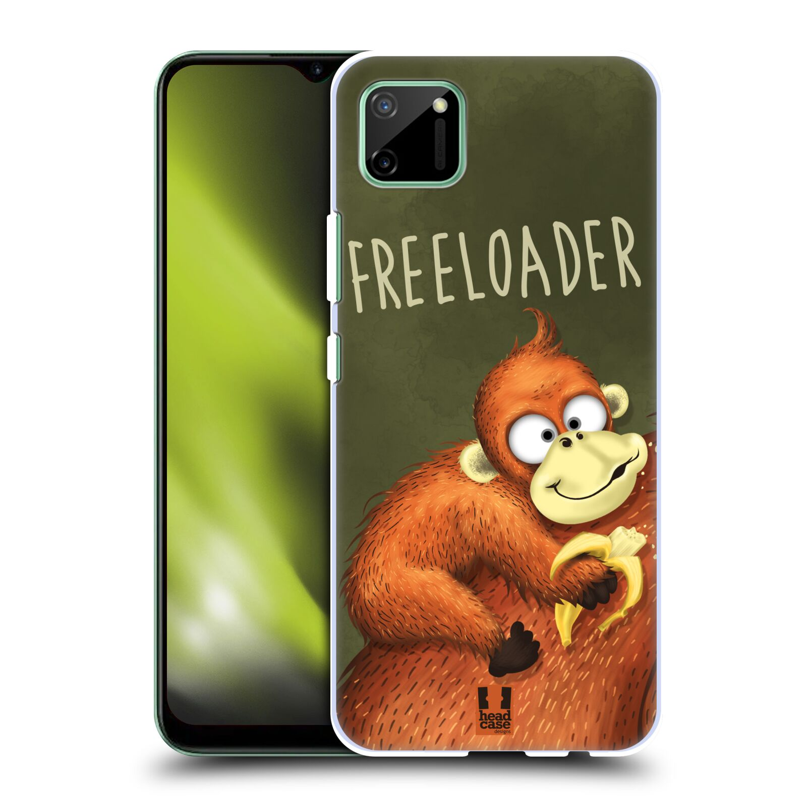 Plastové pouzdro na mobil Realme C11 - Head Case - Opičák Freeloader