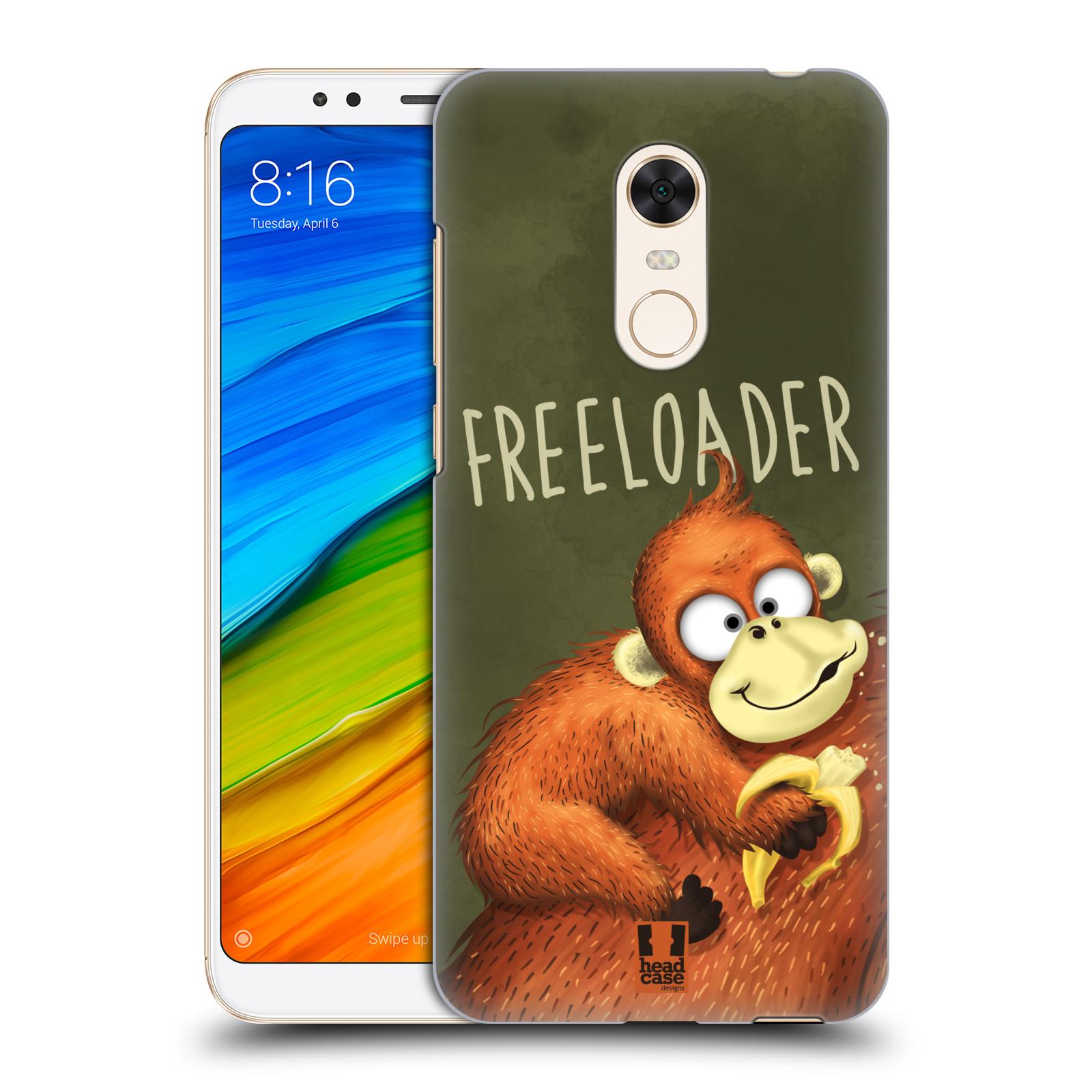 Plastové pouzdro na mobil Xiaomi Redmi 5 Plus - Head Case - Opičák Freeloader