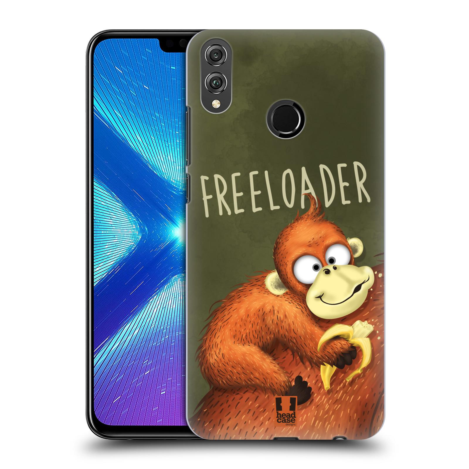 Plastové pouzdro na mobil Honor 8X - Head Case - Opičák Freeloader