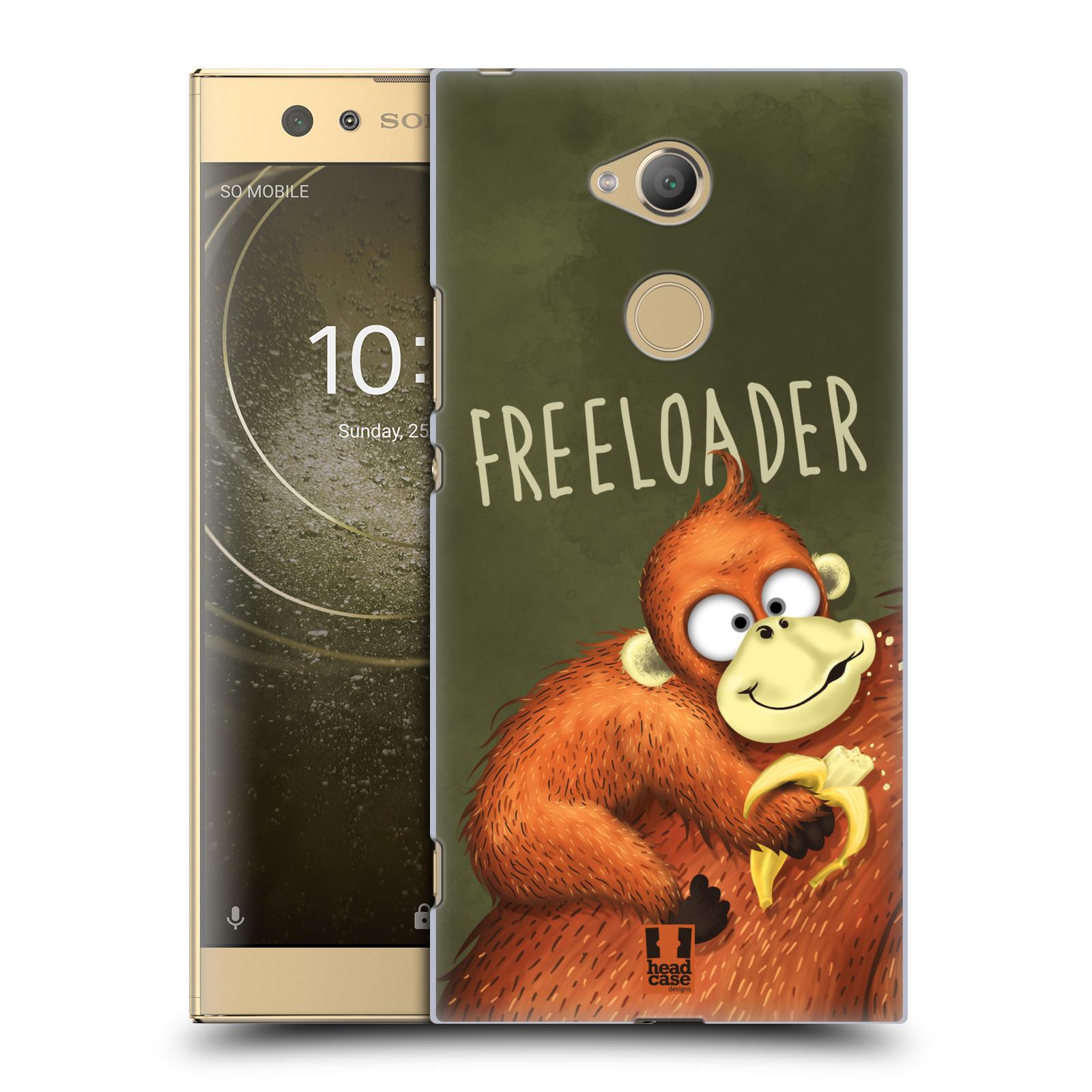 Plastové pouzdro na mobil Sony Xperia XA2 Ultra - Head Case - Opičák Freeloader