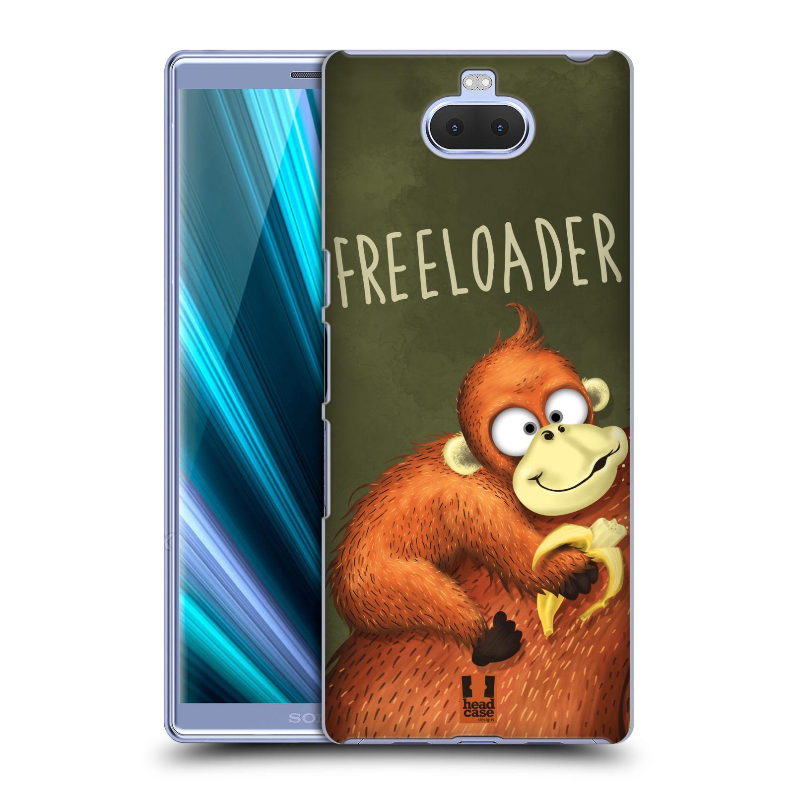 Plastové pouzdro na mobil Sony Xperia 10 Plus - Head Case - Opičák Freeloader
