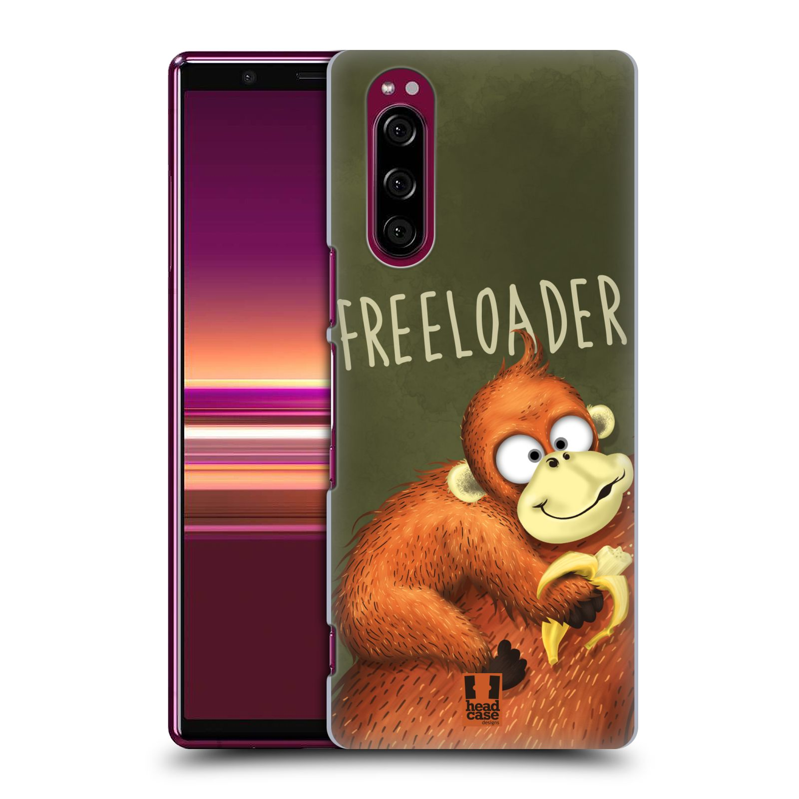Plastové pouzdro na mobil Sony Xperia 5 - Head Case - Opičák Freeloader
