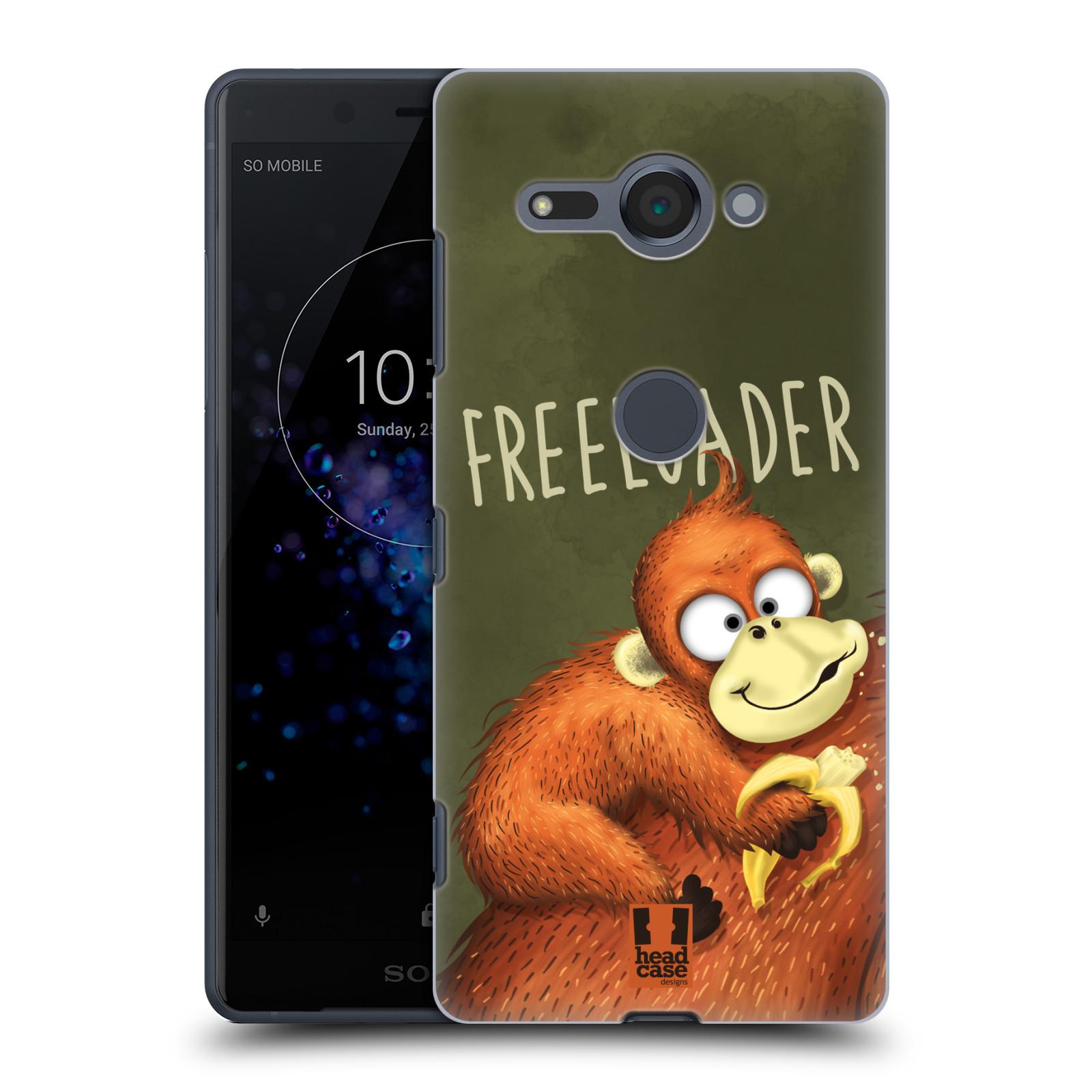 Plastové pouzdro na mobil Sony Xperia XZ2 Compact - Head Case - Opičák Freeloader