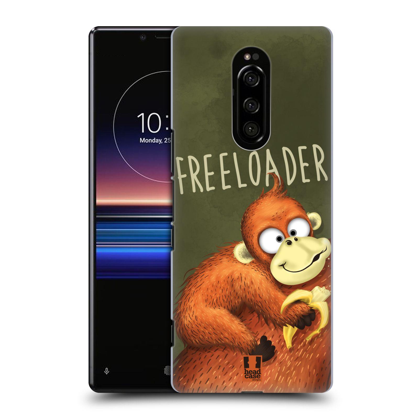Plastové pouzdro na mobil Sony Xperia 1 - Head Case - Opičák Freeloader