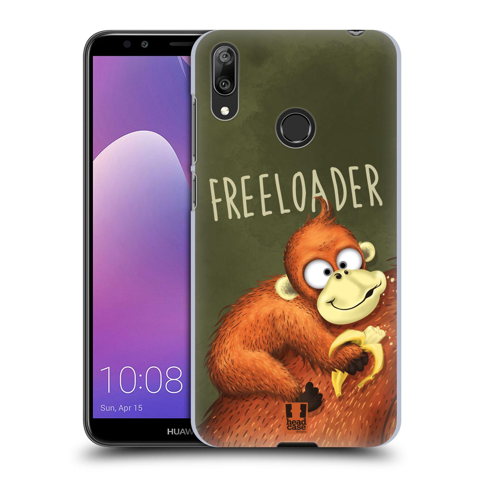 Plastové pouzdro na mobil Huawei Y7 (2019) - Head Case - Opičák Freeloader