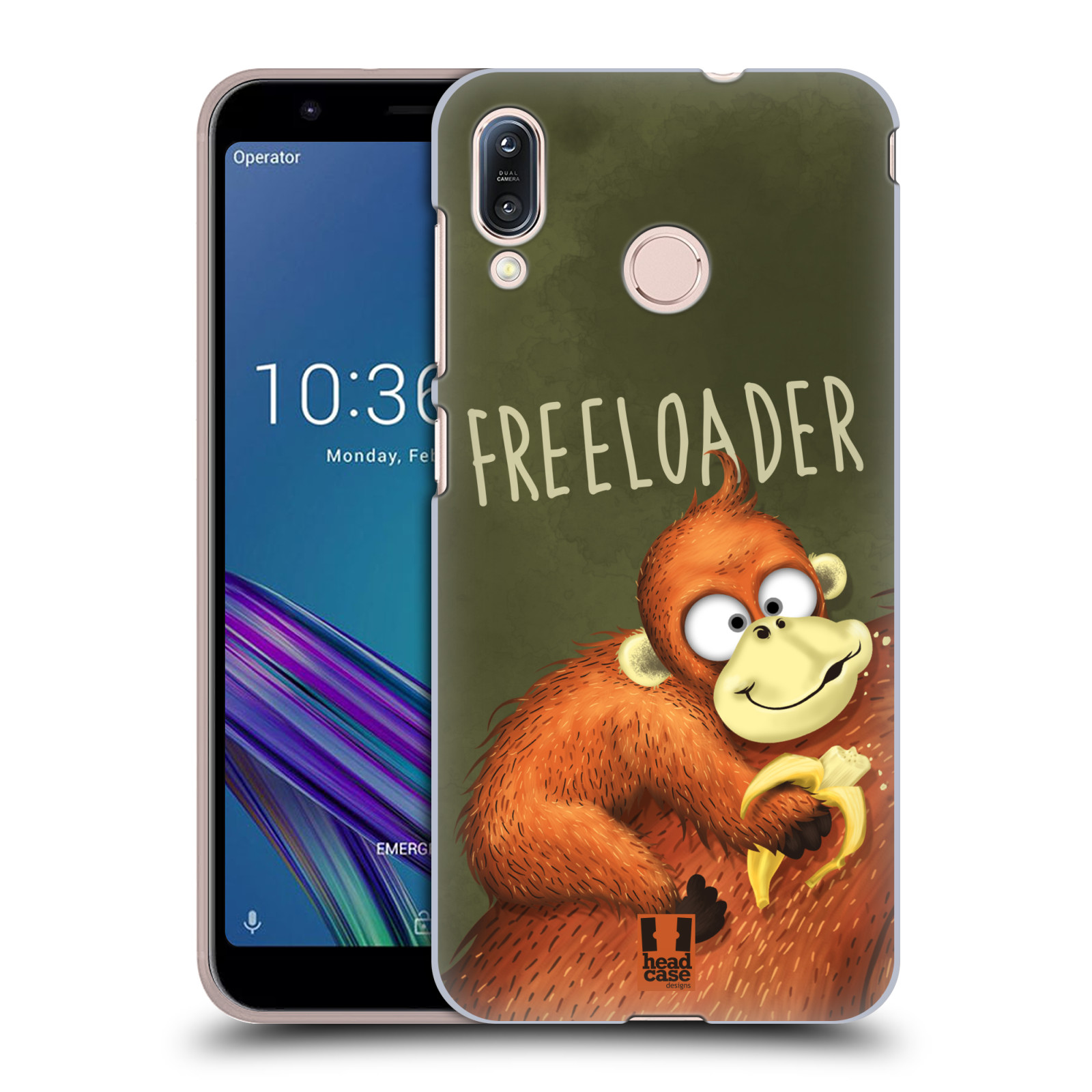 Plastové pouzdro na mobil Asus Zenfone Max M1 ZB555KL - Head Case - Opičák Freeloader