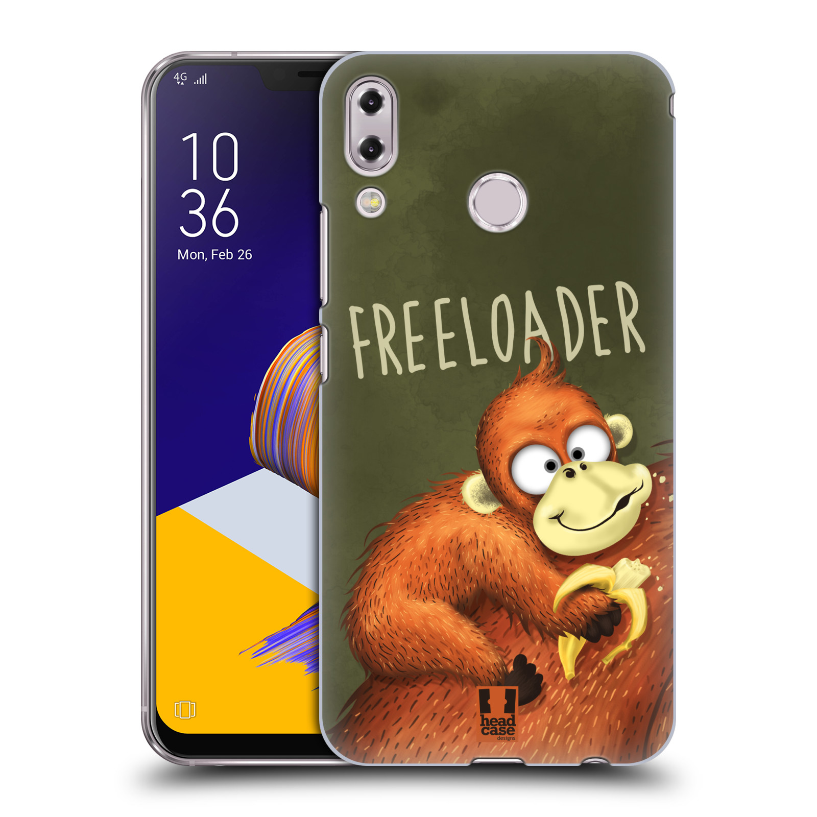 Plastové pouzdro na mobil Asus Zenfone 5z ZS620KL - Head Case - Opičák Freeloader