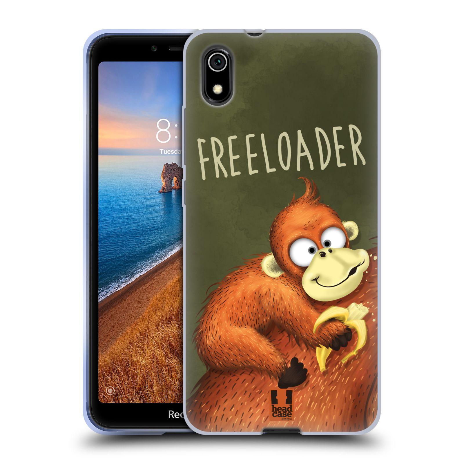 Silikonové pouzdro na mobil Redmi 7A - Head Case - Opičák Freeloader
