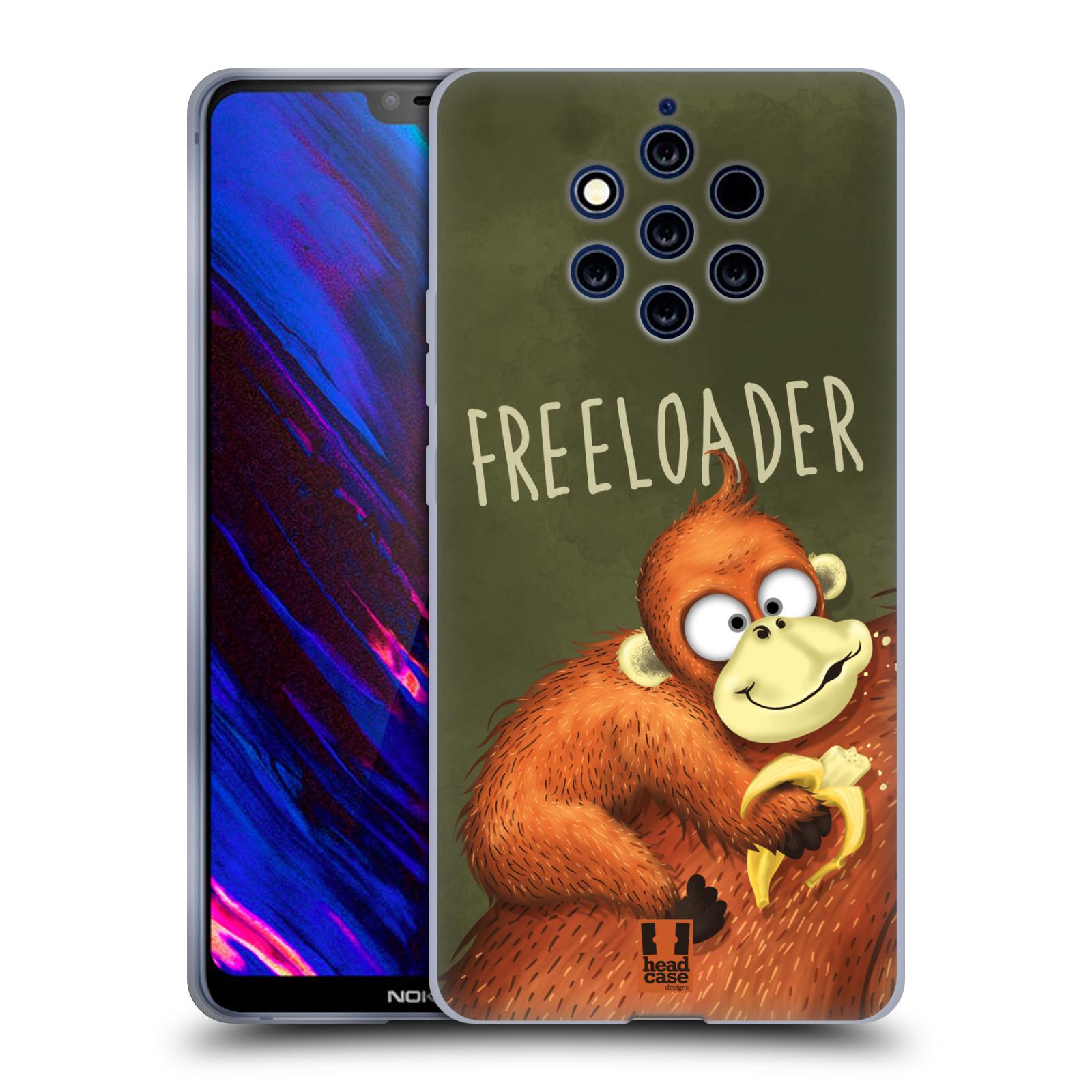 Silikonové pouzdro na mobil Nokia 9 PureView - Head Case - Opičák Freeloader