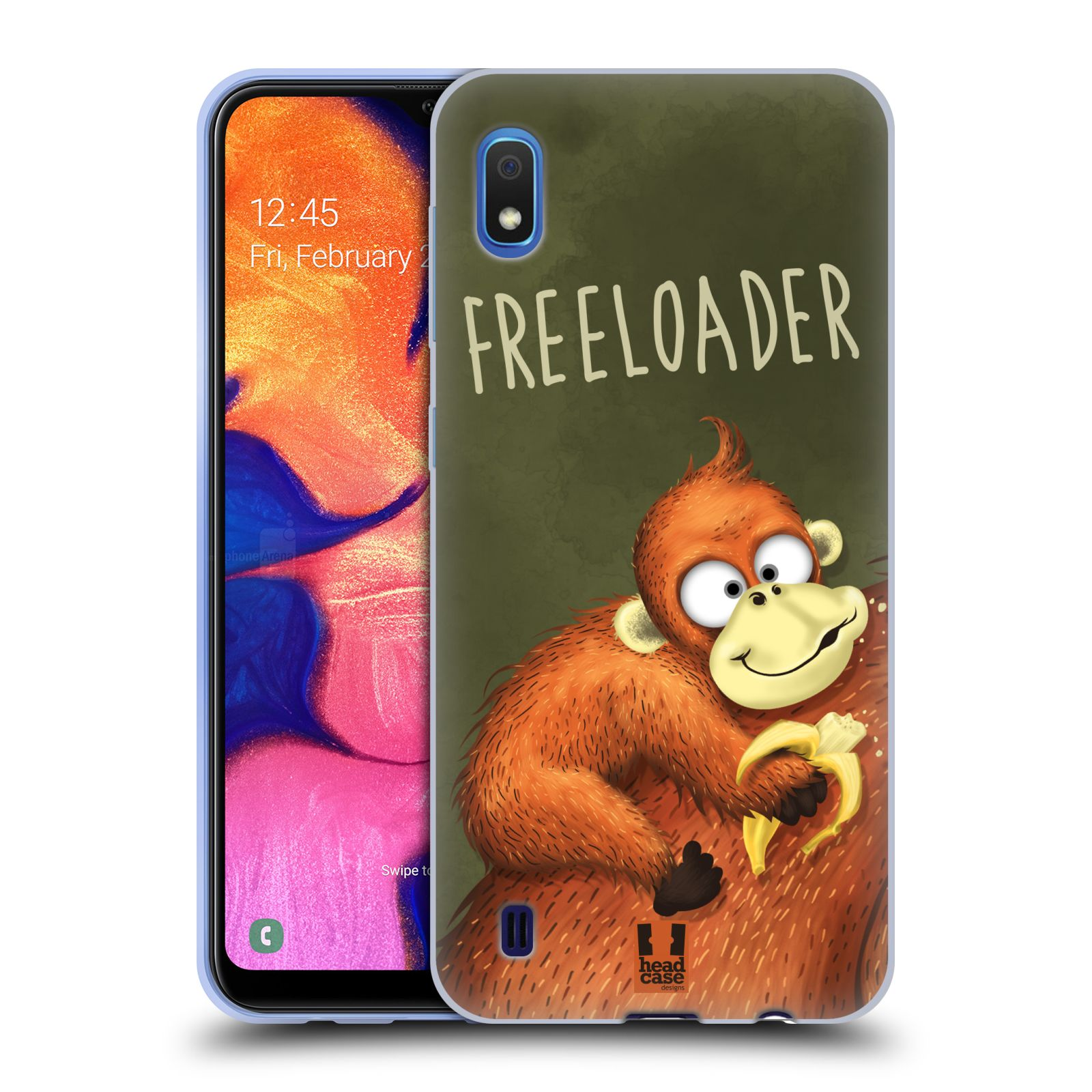 Silikonové pouzdro na mobil Samsung Galaxy A10 - Head Case - Opičák Freeloader