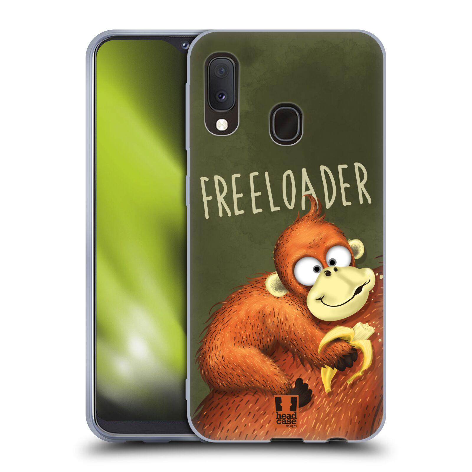 Silikonové pouzdro na mobil Samsung Galaxy A20e - Head Case - Opičák Freeloader