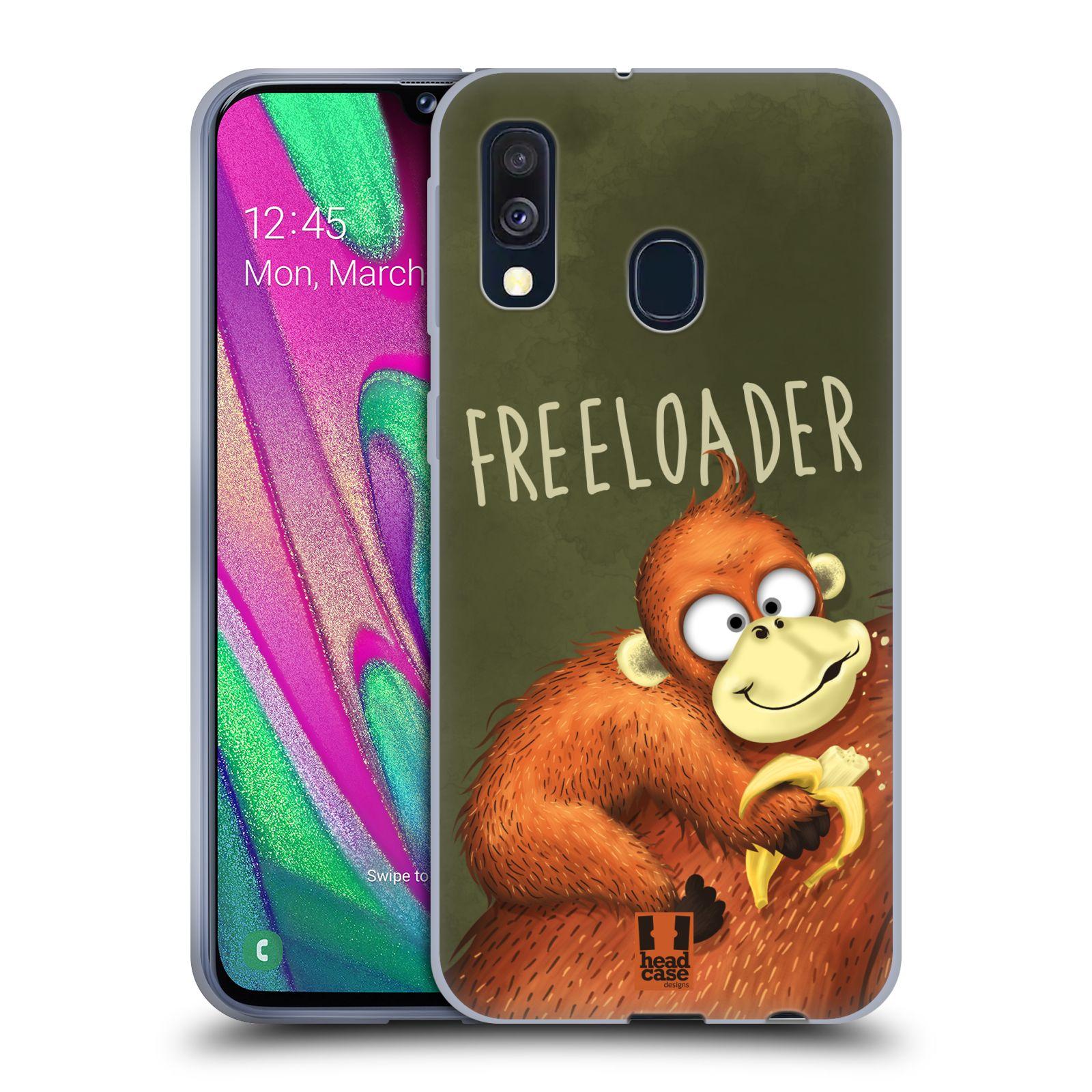 Silikonové pouzdro na mobil Samsung Galaxy A40 - Head Case - Opičák Freeloader