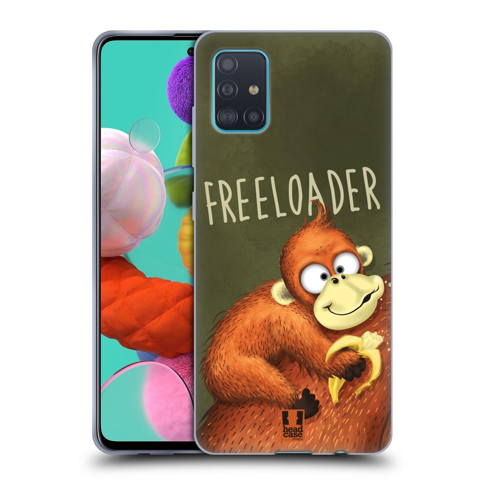 Silikonové pouzdro na mobil Samsung Galaxy A51 - Head Case - Opičák Freeloader