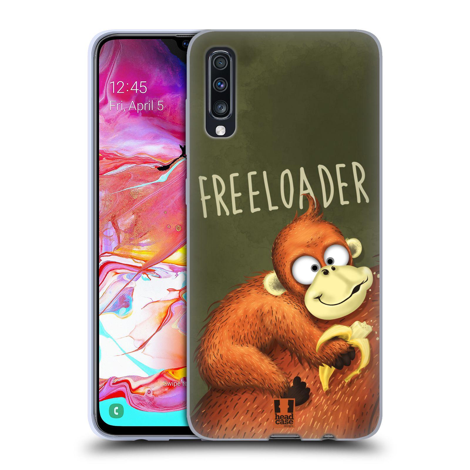 Silikonové pouzdro na mobil Samsung Galaxy A70 - Head Case - Opičák Freeloader