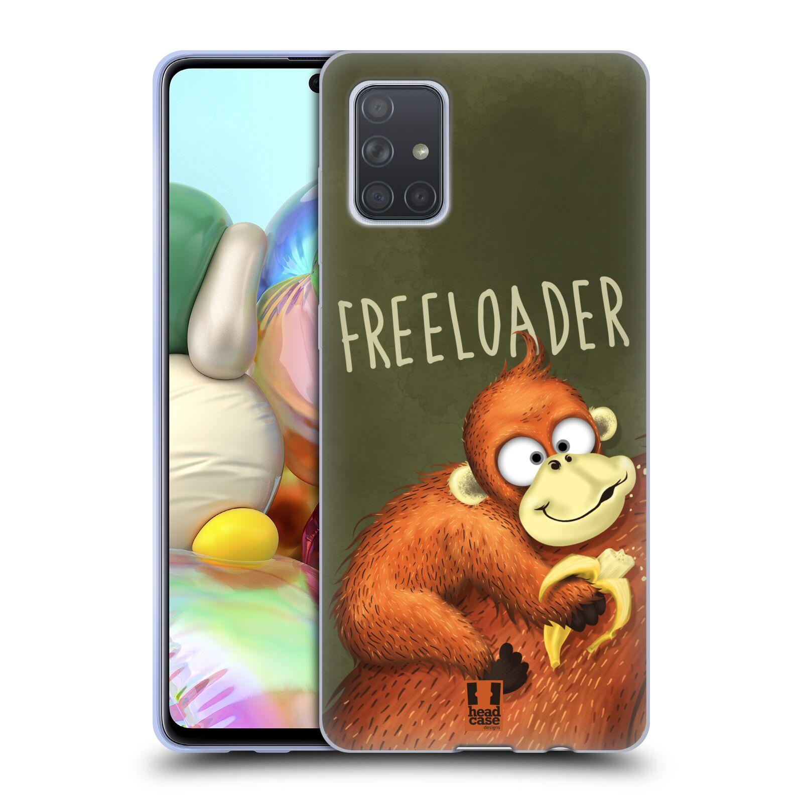 Silikonové pouzdro na mobil Samsung Galaxy A71 - Head Case - Opičák Freeloader