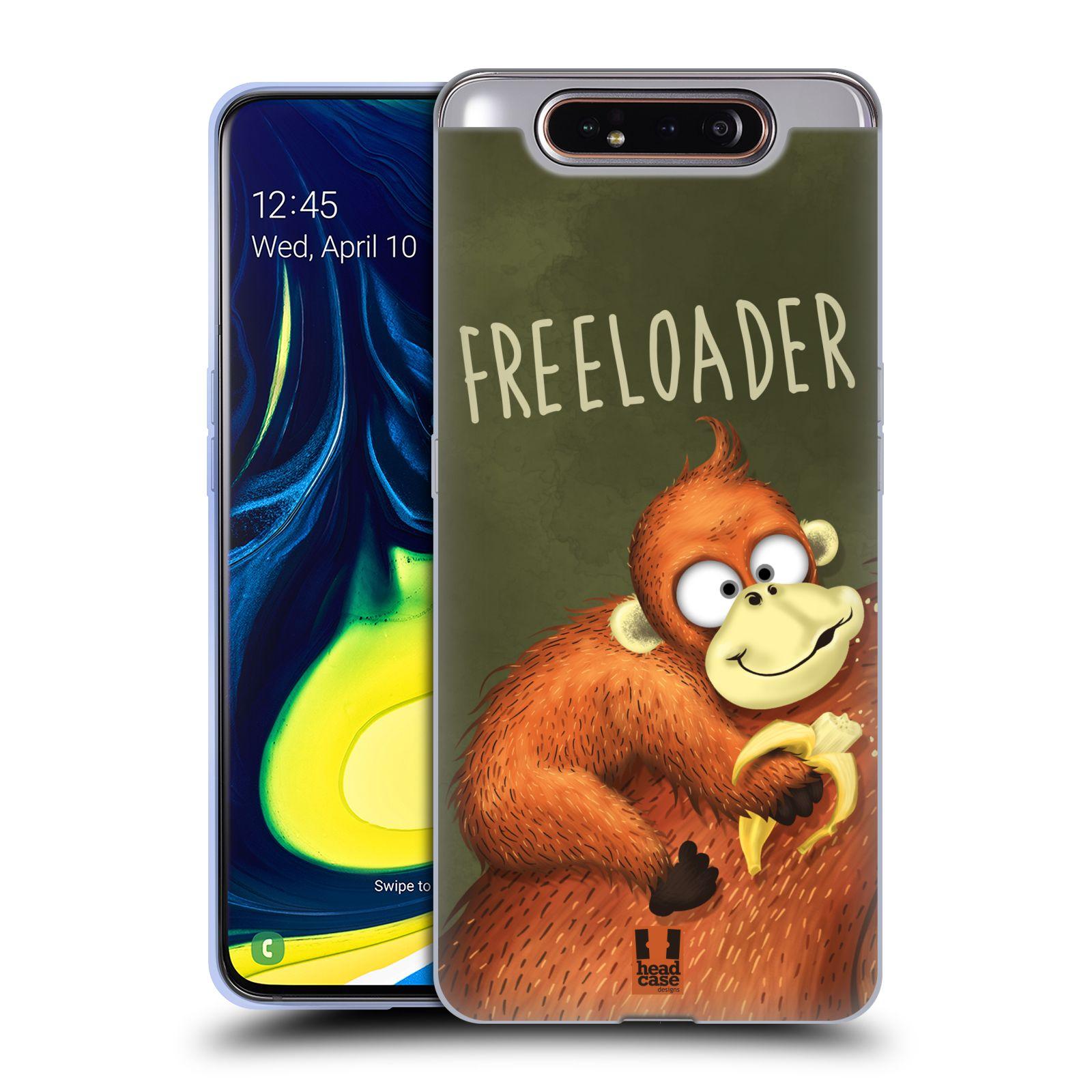 Silikonové pouzdro na mobil Samsung Galaxy A80 - Head Case - Opičák Freeloader