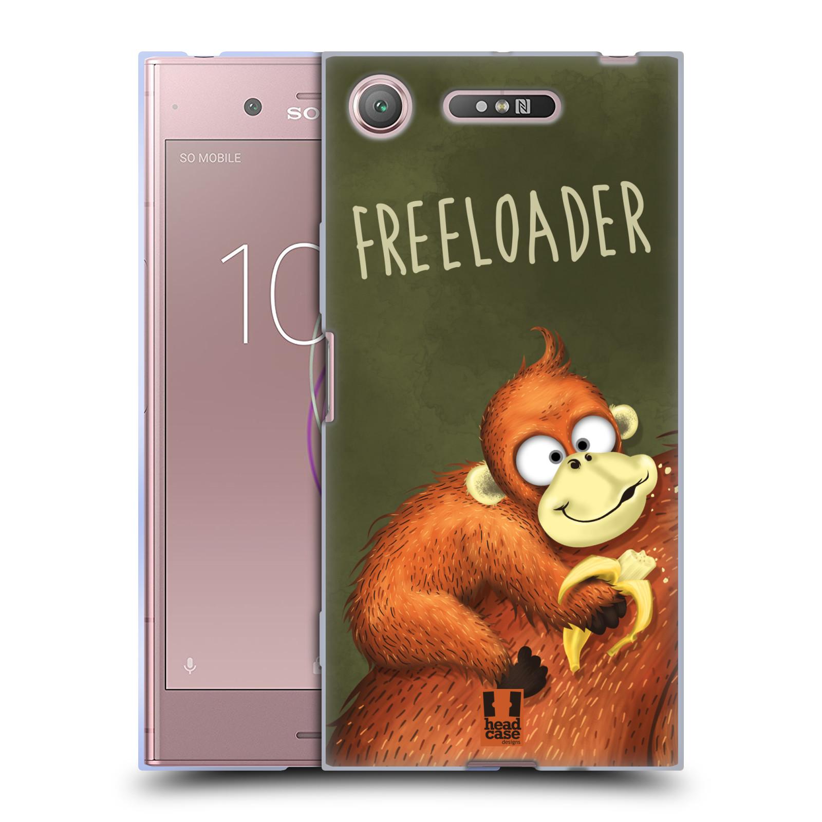 Silikonové pouzdro na mobil Sony Xperia XZ1 - Head Case - Opičák Freeloader