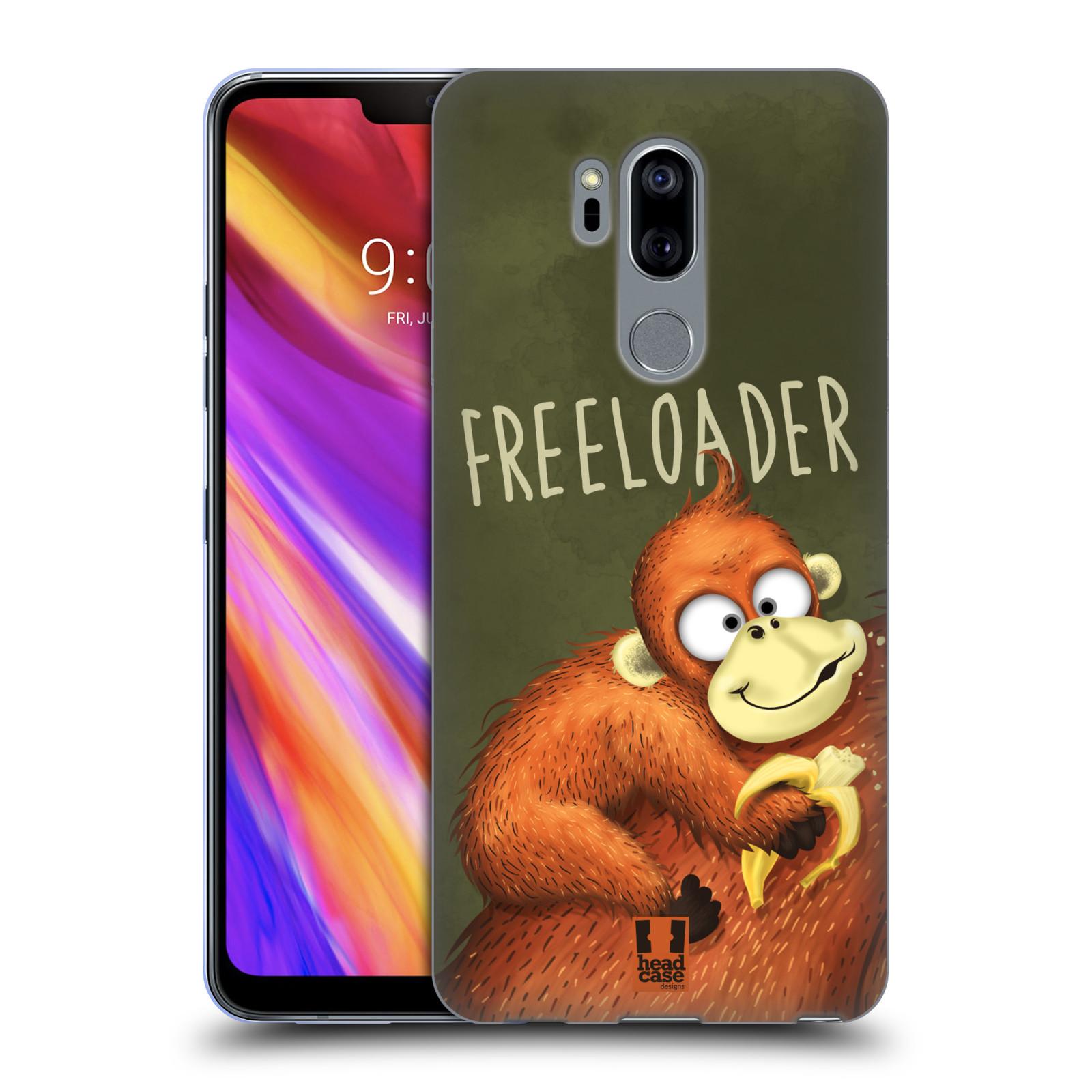 Silikonové pouzdro na mobil LG G7 ThinQ - Head Case - Opičák Freeloader