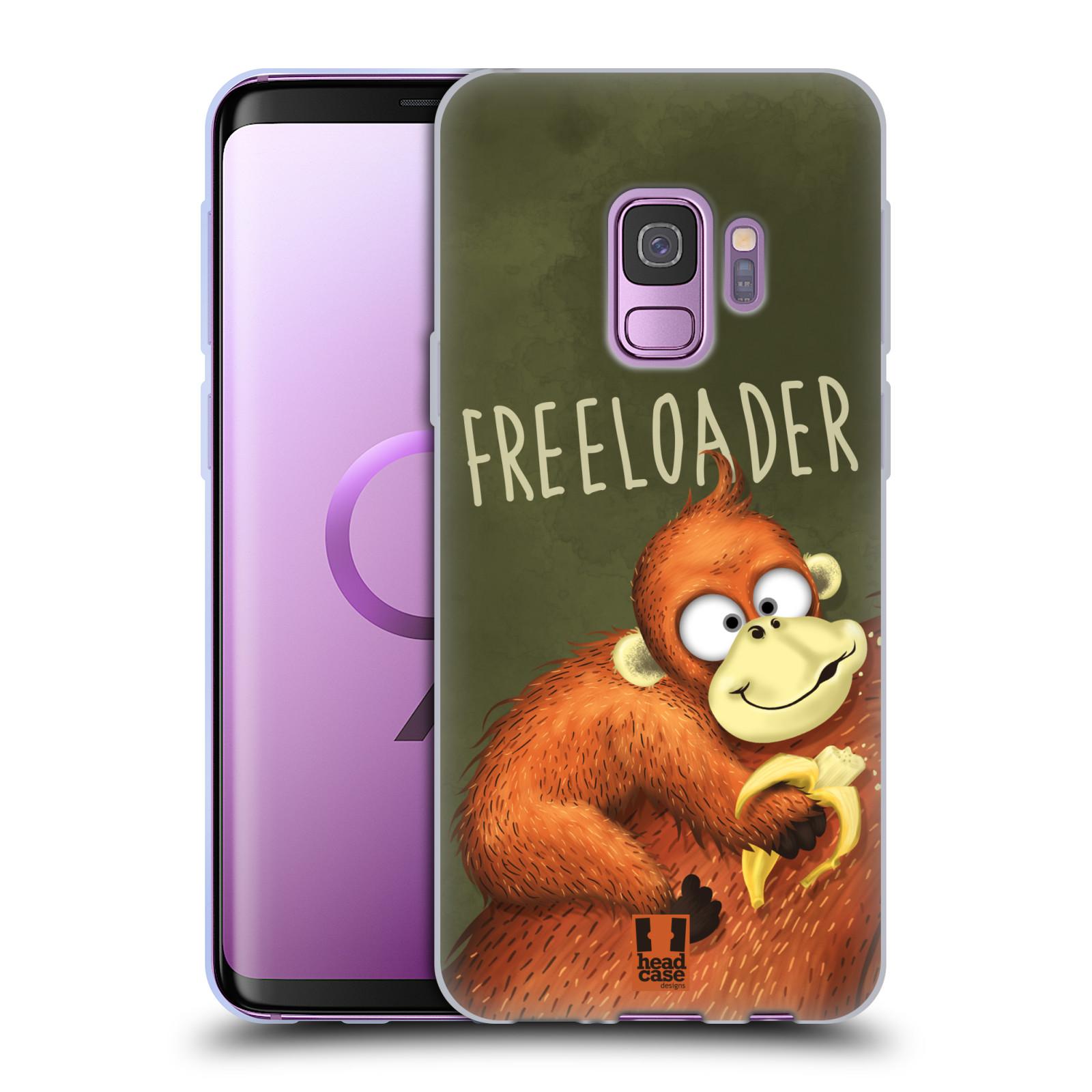 Silikonové pouzdro na mobil Samsung Galaxy S9 - Head Case - Opičák Freeloader