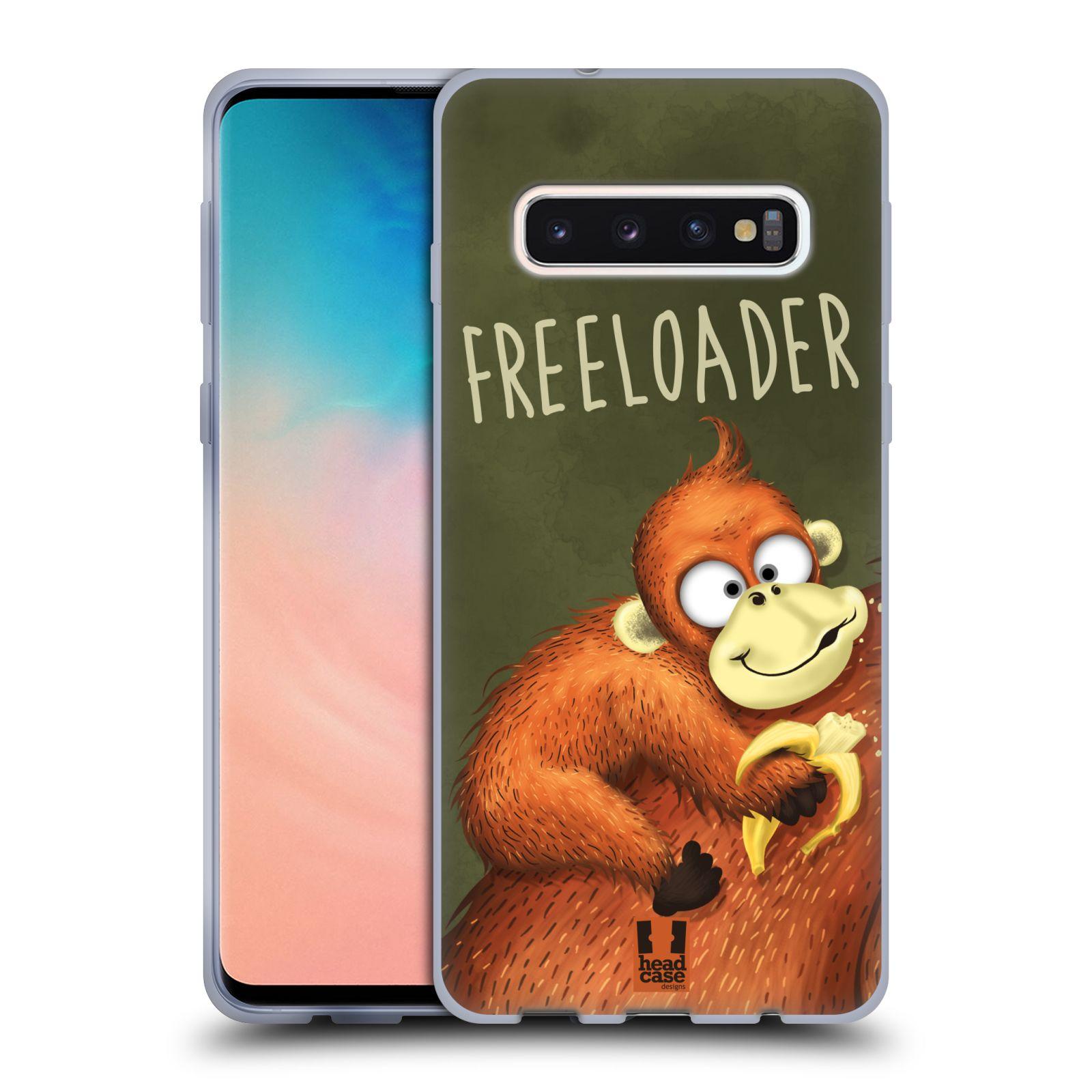 Silikonové pouzdro na mobil Samsung Galaxy S10 - Head Case - Opičák Freeloader