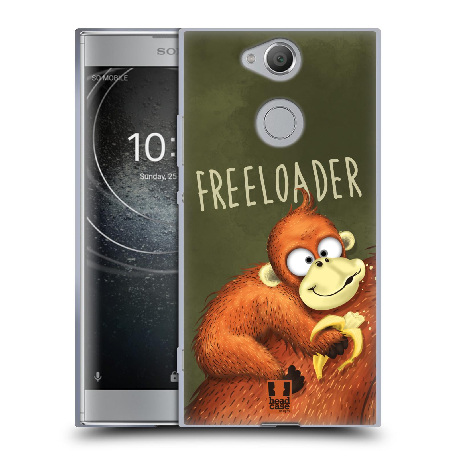 Silikonové pouzdro na mobil Sony Xperia XA2 - Head Case - Opičák Freeloader