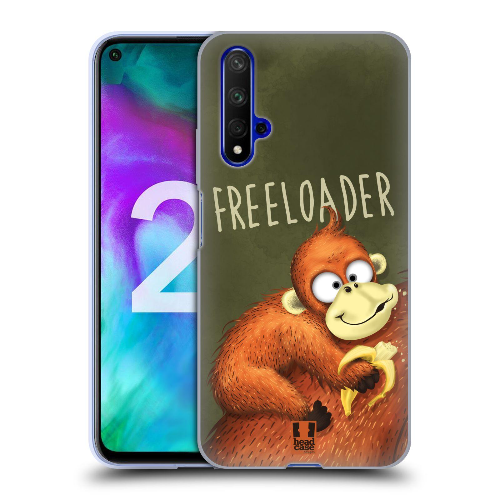 Silikonové pouzdro na mobil Honor 20 - Head Case - Opičák Freeloader