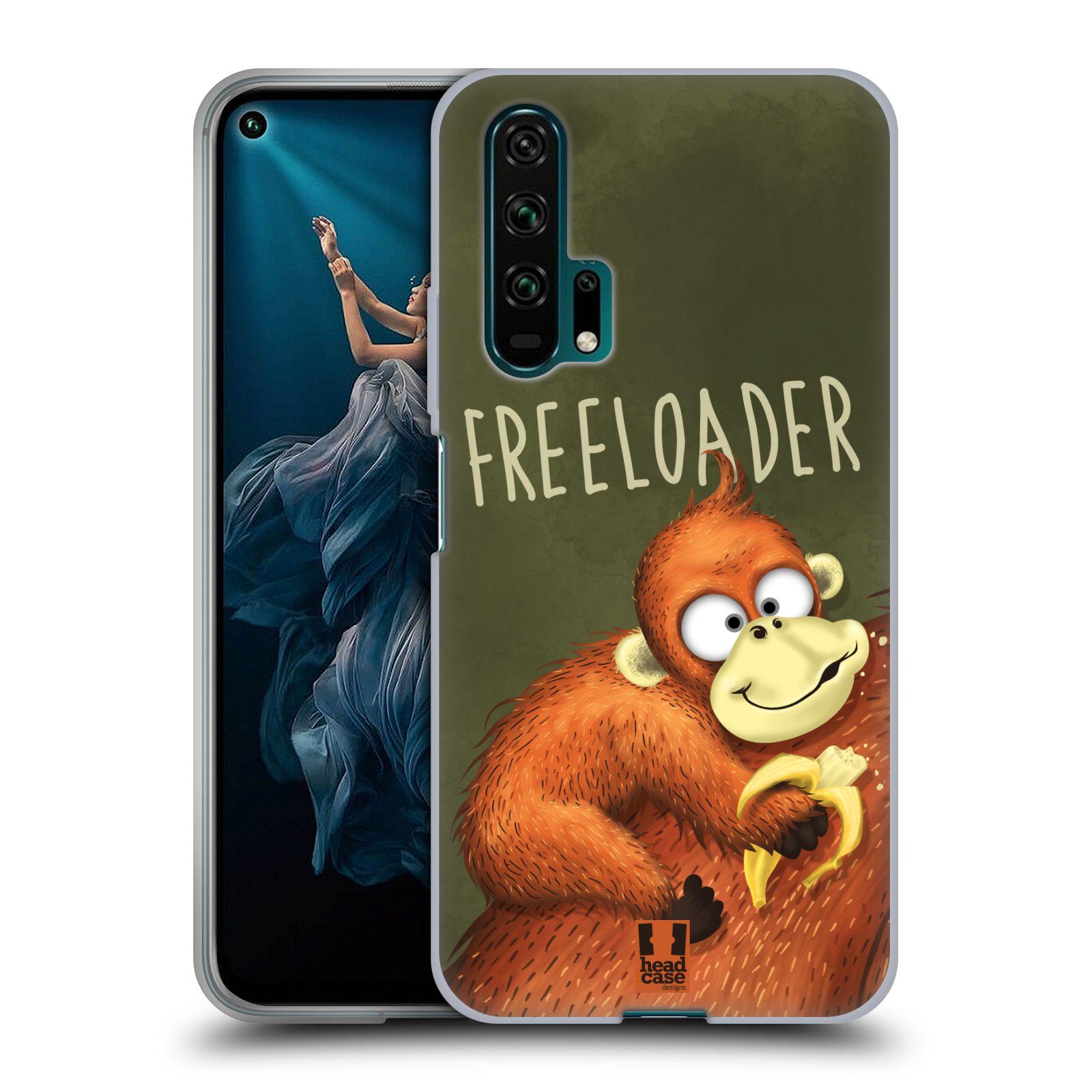 Silikonové pouzdro na mobil Honor 20 Pro - Head Case - Opičák Freeloader