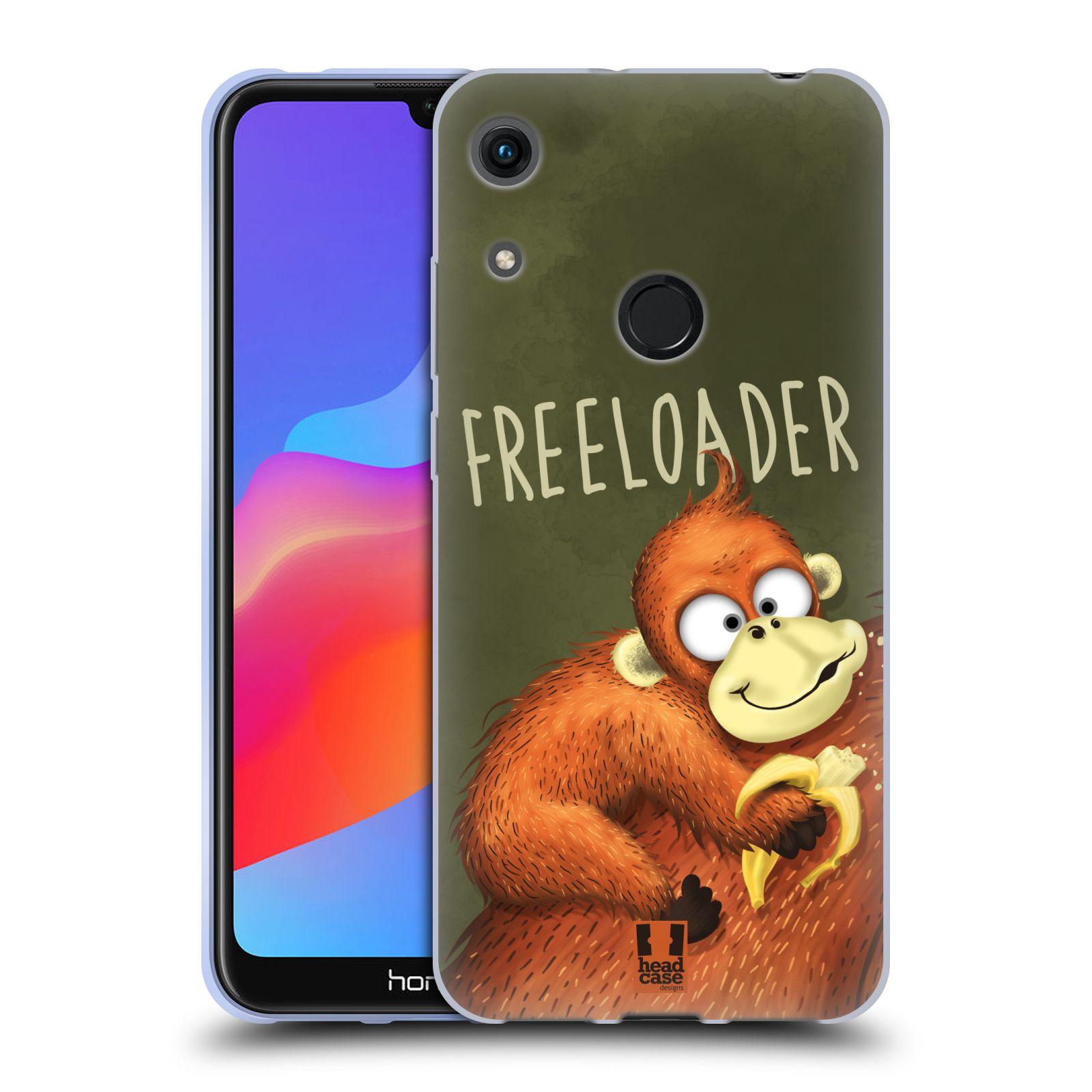 Silikonové pouzdro na mobil Honor 8A - Head Case - Opičák Freeloader
