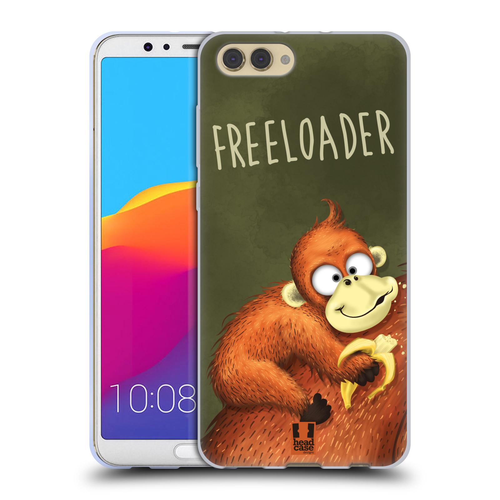 Silikonové pouzdro na mobil Honor View 10 - Head Case - Opičák Freeloader