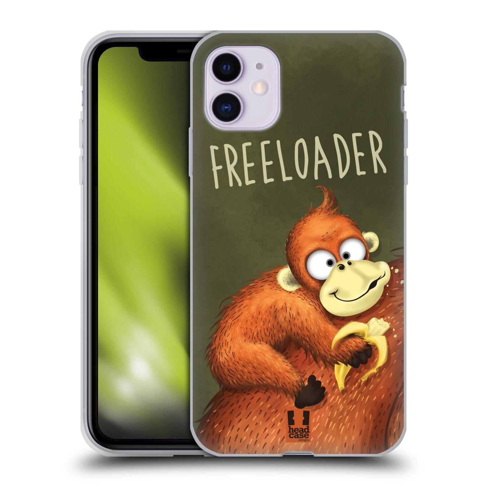 Silikonové pouzdro na mobil Apple iPhone 11 - Head Case - Opičák Freeloader
