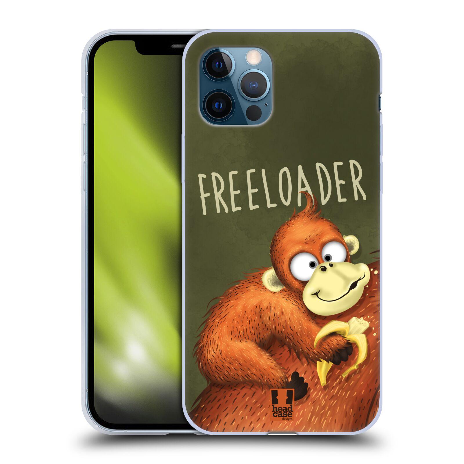 Silikonové pouzdro na mobil Apple iPhone 12 / 12 Pro - Head Case - Opičák Freeloader