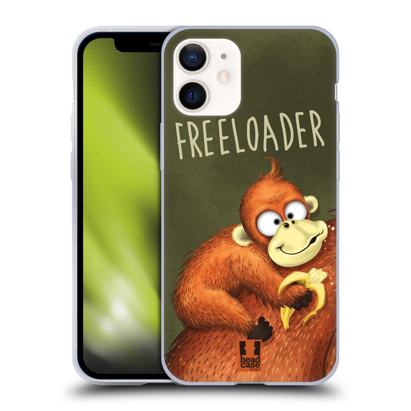 Silikonové pouzdro na mobil Apple iPhone 12 Mini - Head Case - Opičák Freeloader