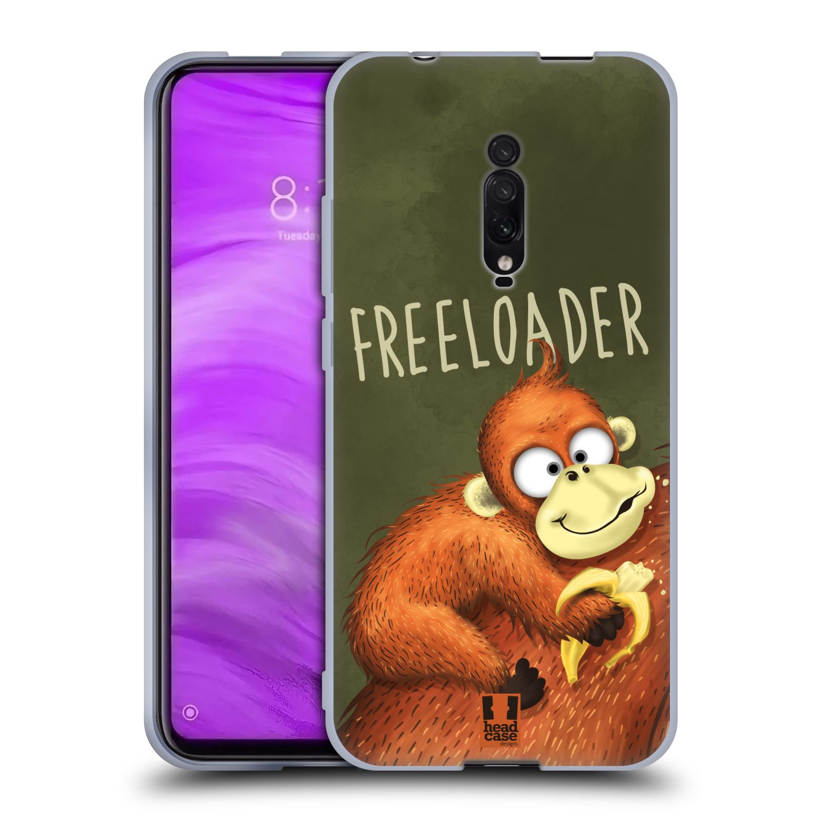 Silikonové pouzdro na mobil Xiaomi Mi 9T - Head Case - Opičák Freeloader