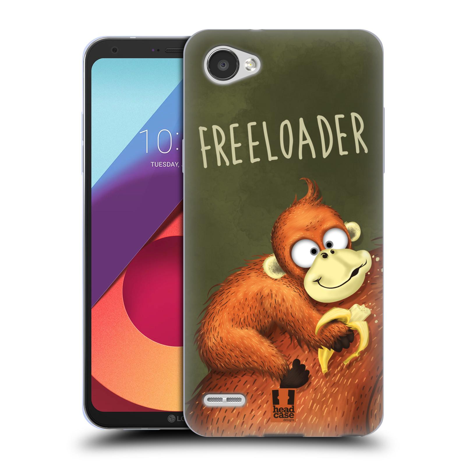Silikonové pouzdro na mobil LG Q6 - Head Case - Opičák Freeloader