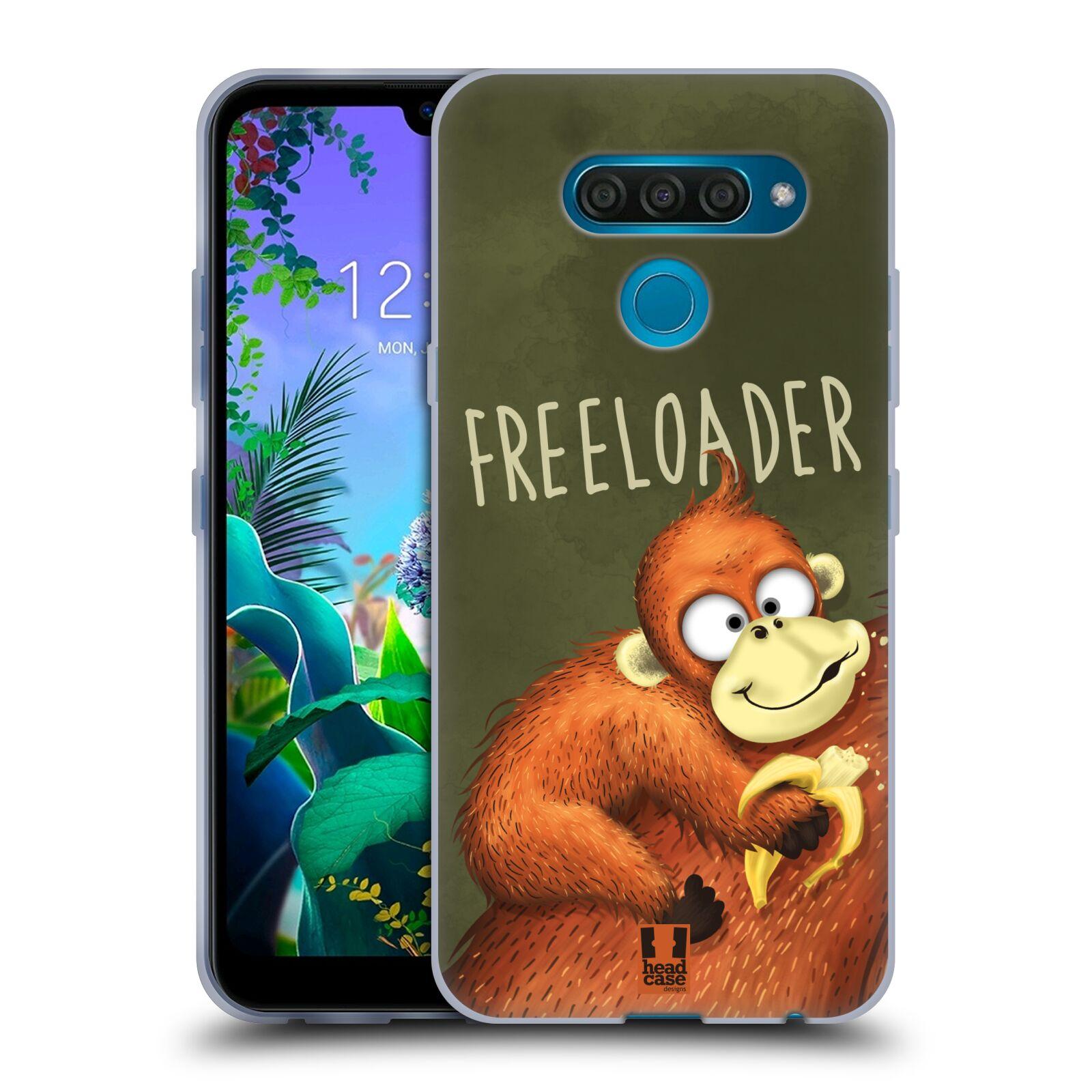 Silikonové pouzdro na mobil LG Q60 - Head Case - Opičák Freeloader