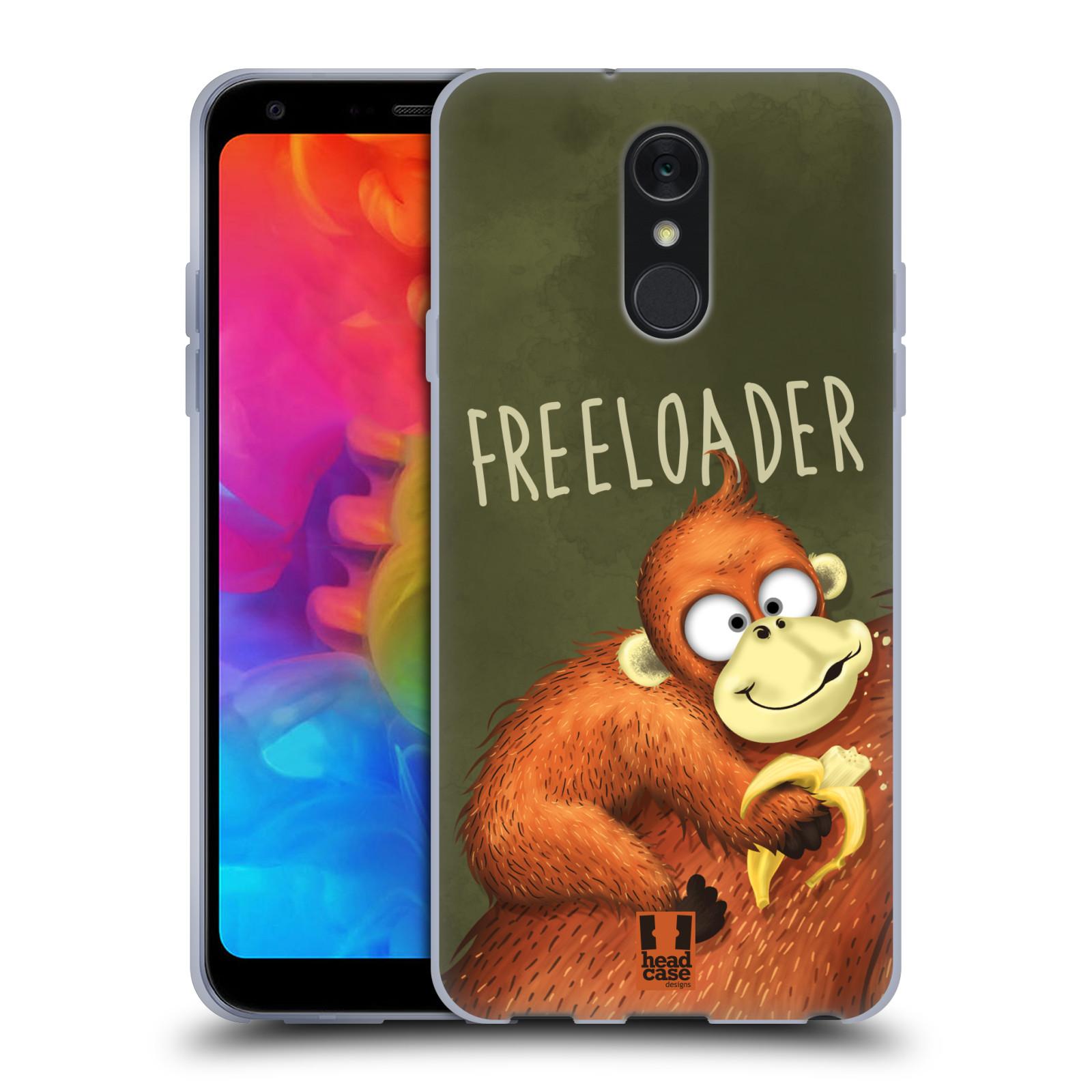 Silikonové pouzdro na mobil LG Q7 - Head Case - Opičák Freeloader