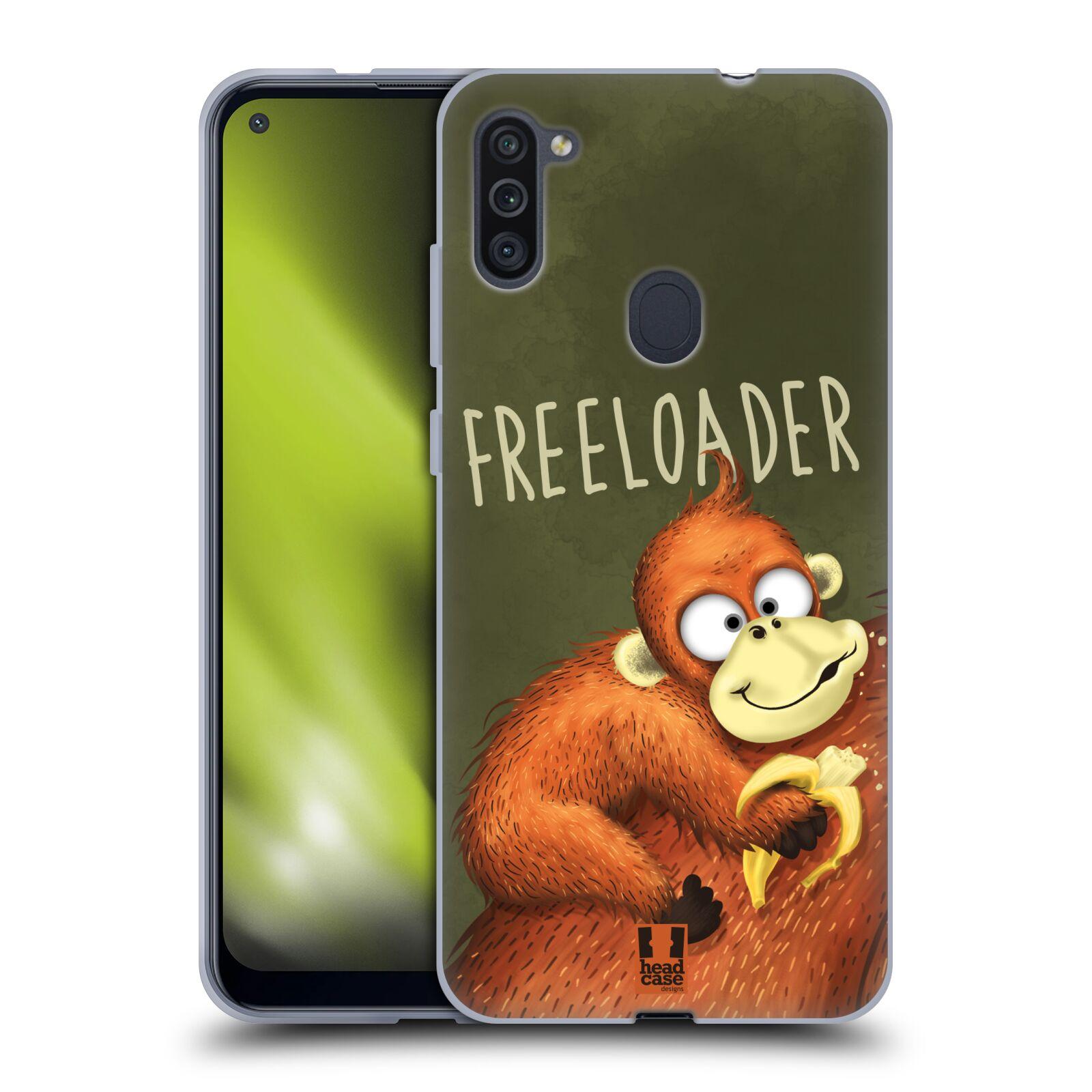 Silikonové pouzdro na mobil Samsung Galaxy M11 - Head Case - Opičák Freeloader