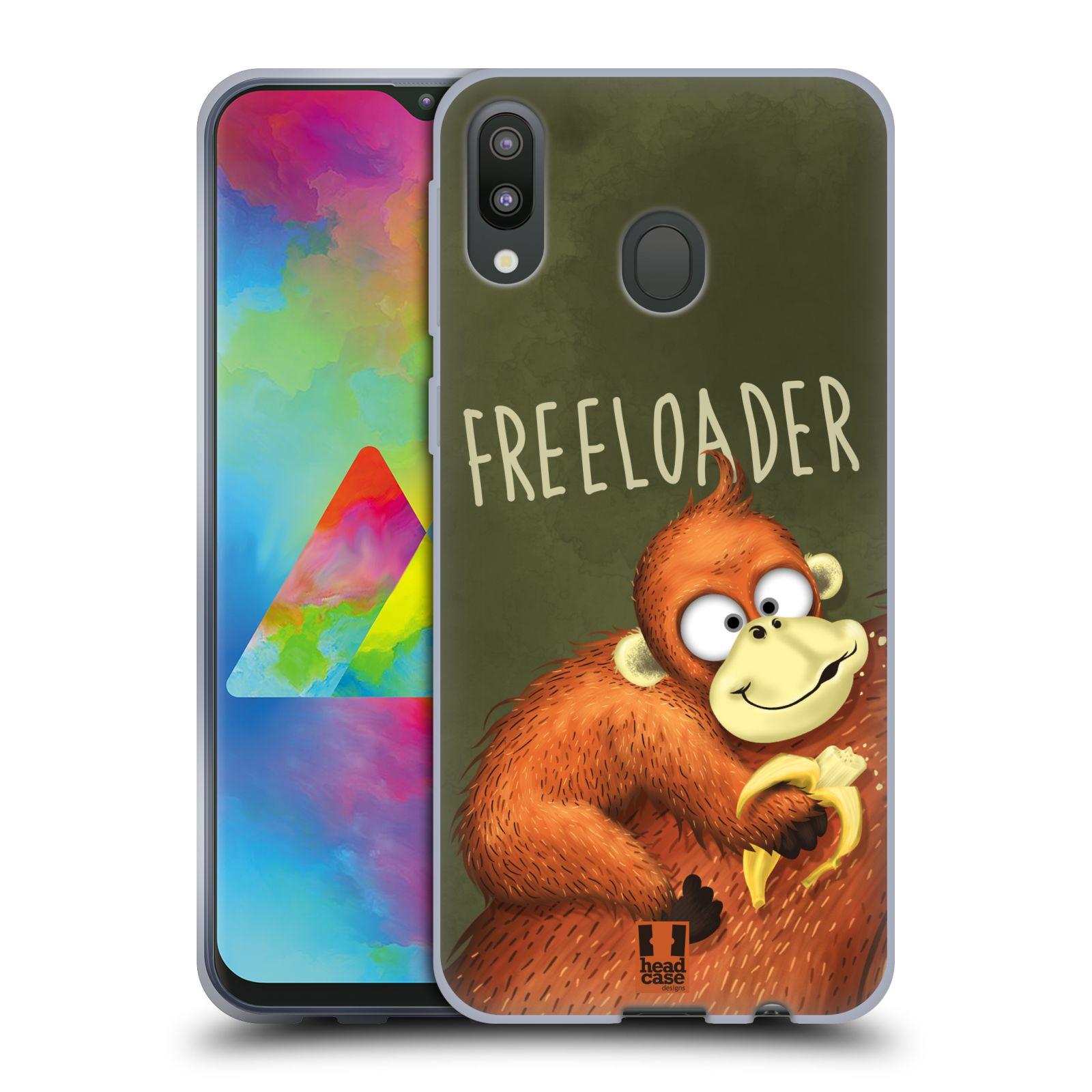 Silikonové pouzdro na mobil Samsung Galaxy M20 - Head Case - Opičák Freeloader