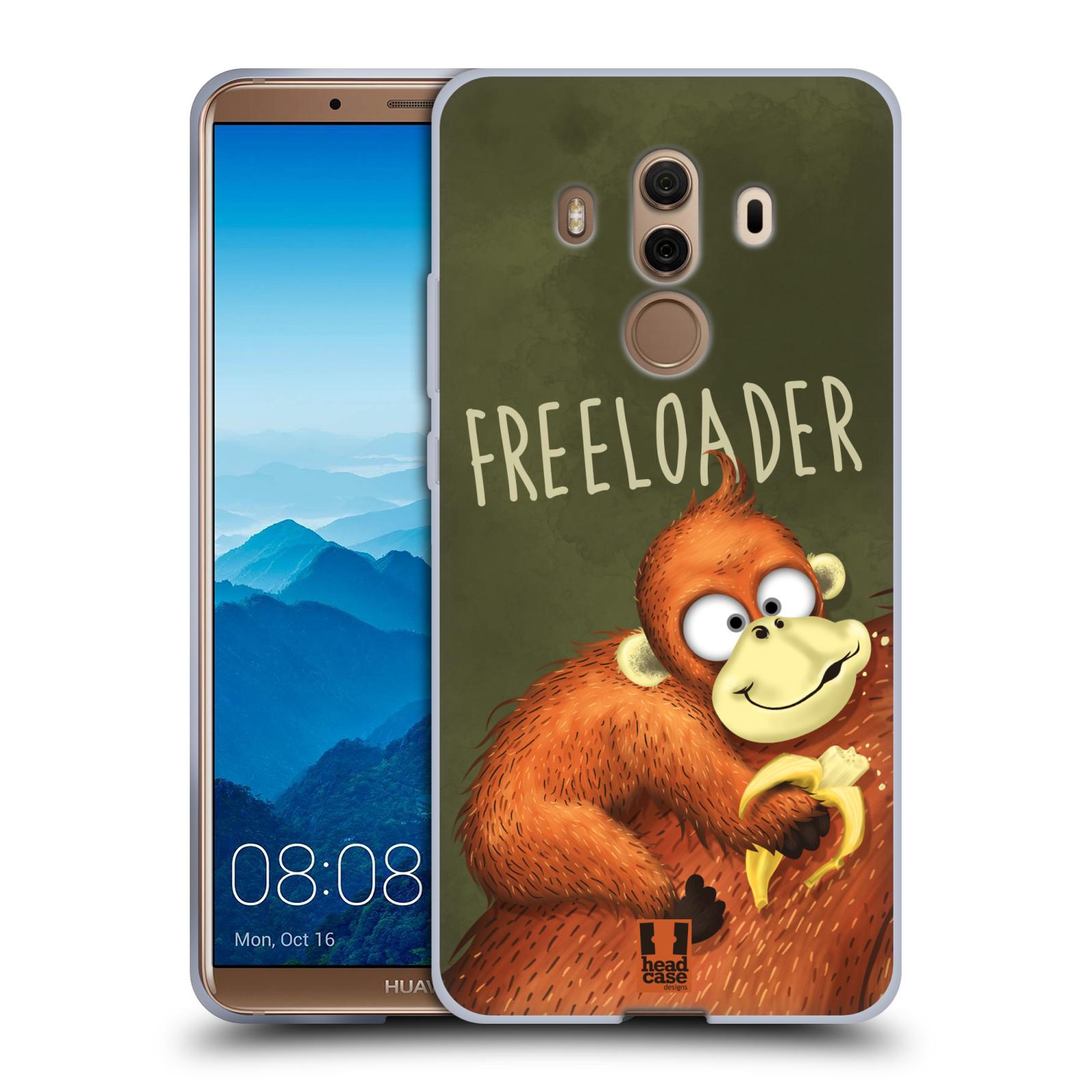 Silikonové pouzdro na mobil Huawei Mate 10 Pro - Head Case - Opičák Freeloader