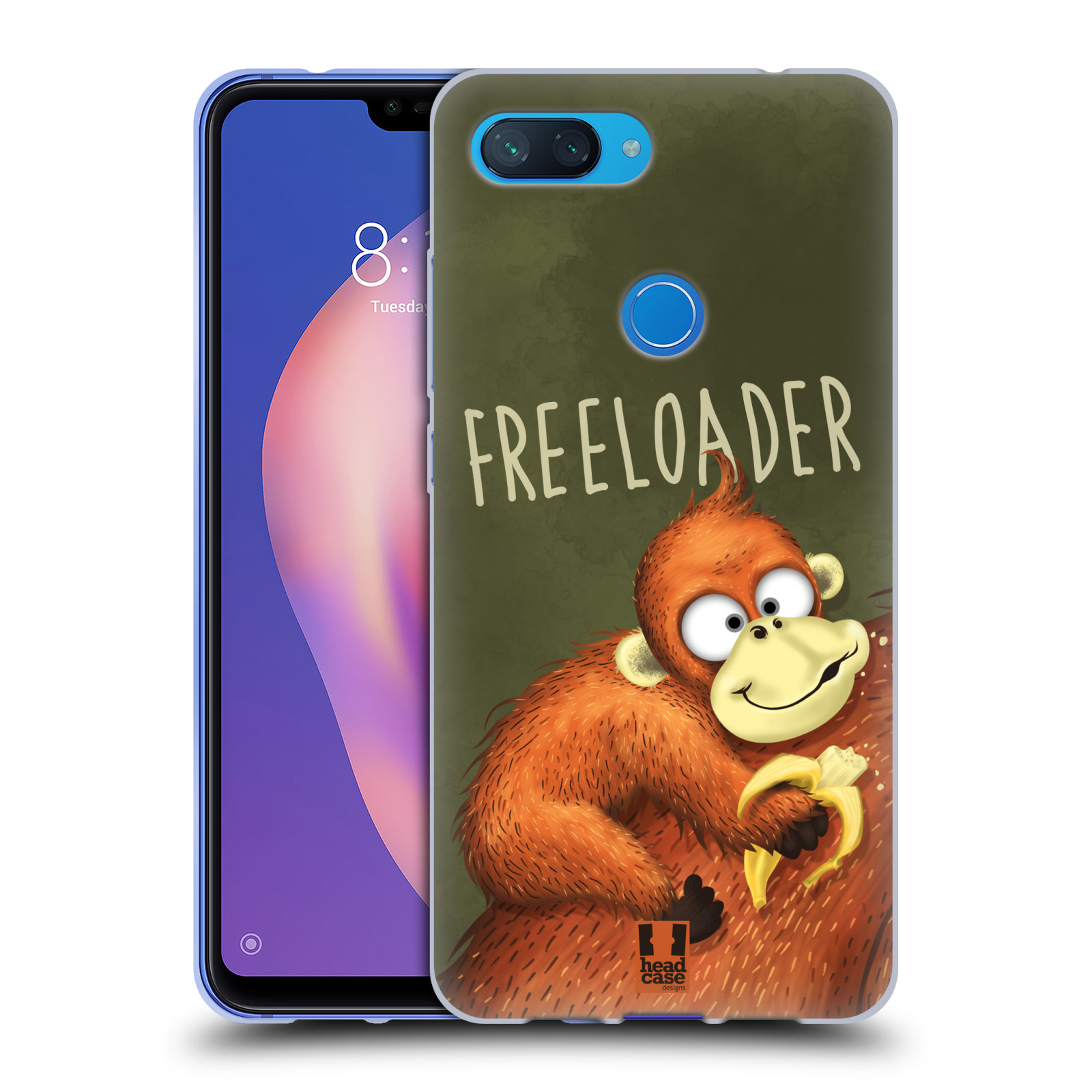 Silikonové pouzdro na mobil Xiaomi Mi 8 Lite - Head Case - Opičák Freeloader