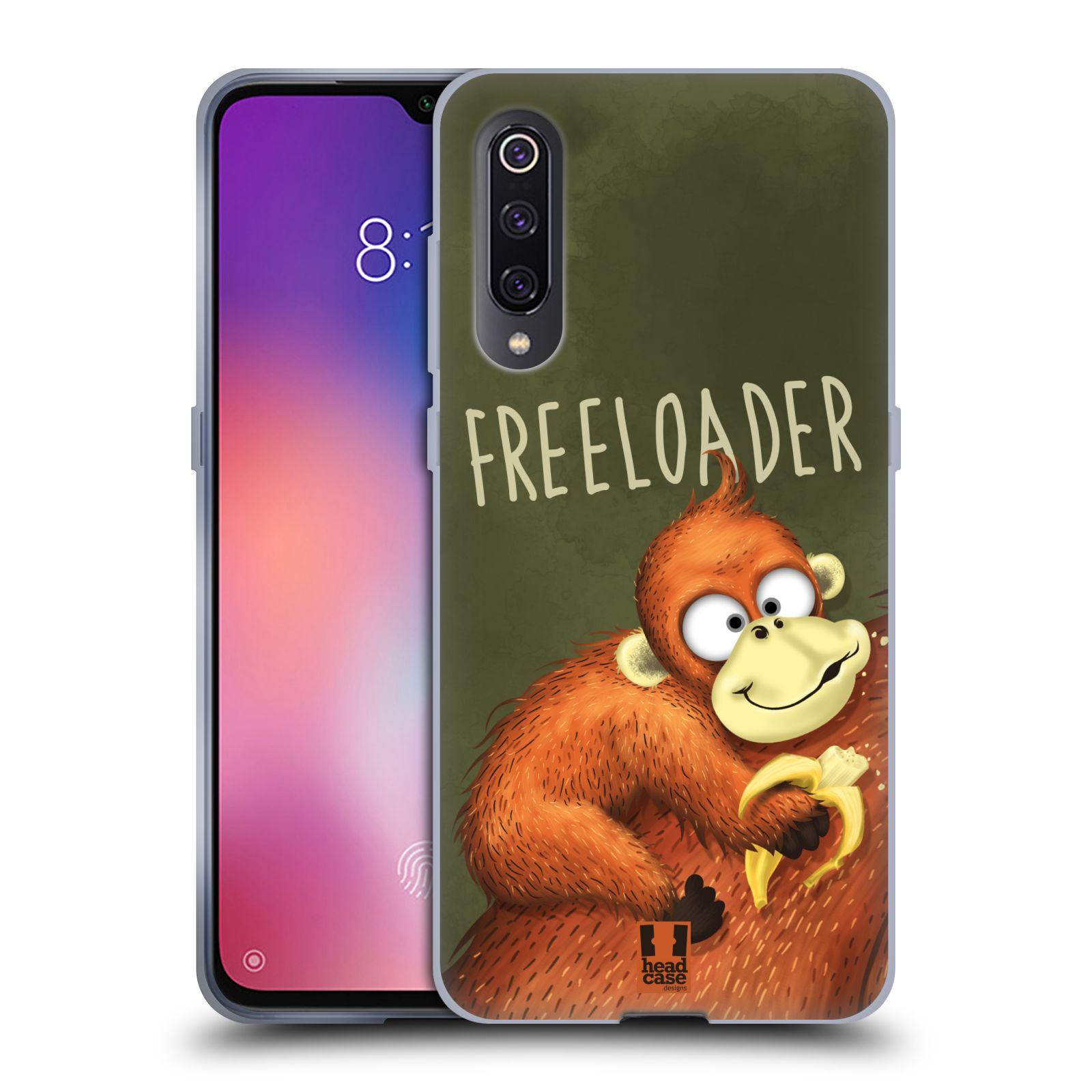 Silikonové pouzdro na mobil Xiaomi Mi 9 - Head Case - Opičák Freeloader