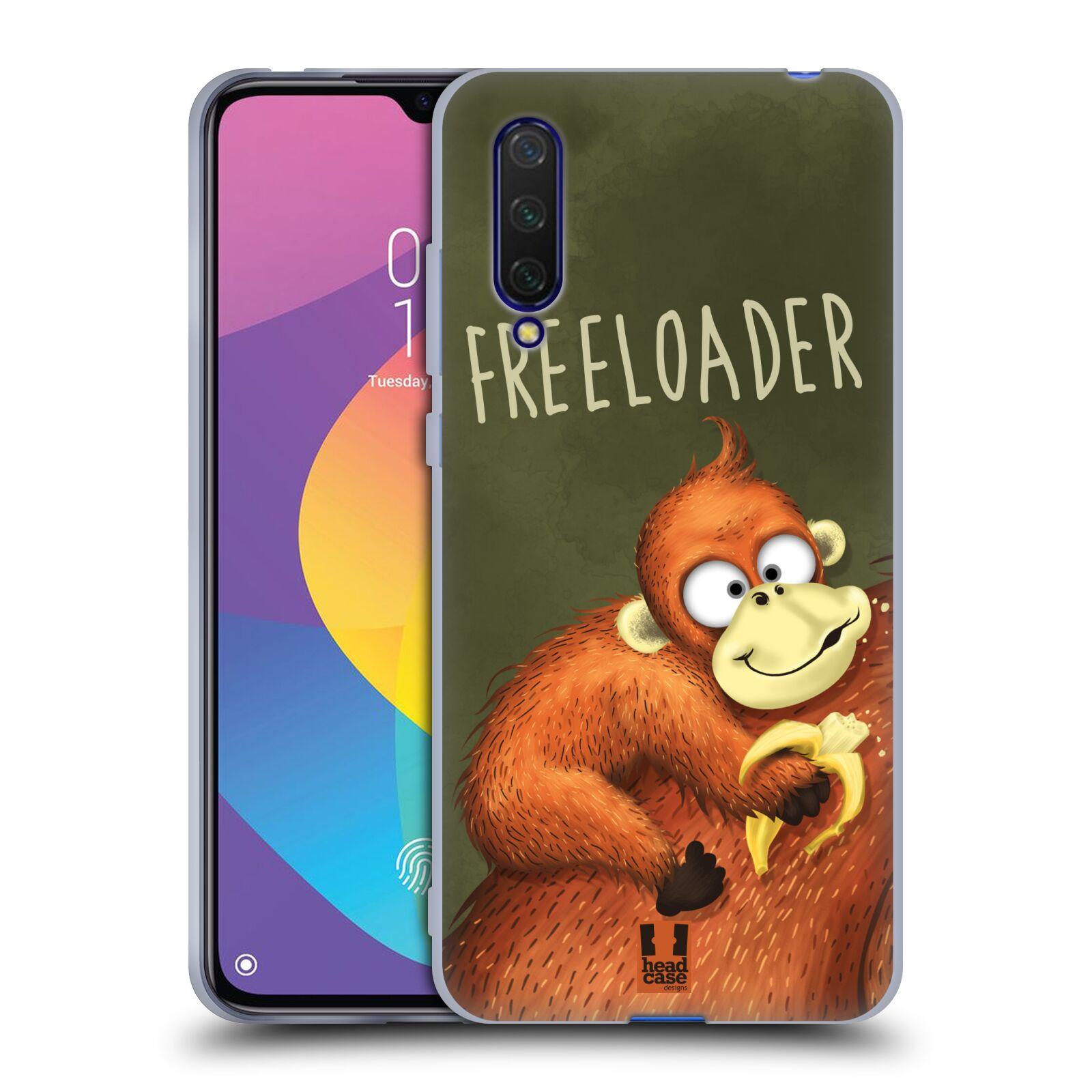 Silikonové pouzdro na mobil Xiaomi Mi 9 Lite - Head Case - Opičák Freeloader