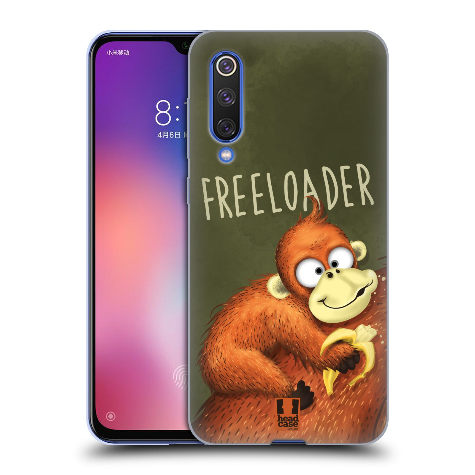 Silikonové pouzdro na mobil Xiaomi Mi 9 SE - Head Case - Opičák Freeloader