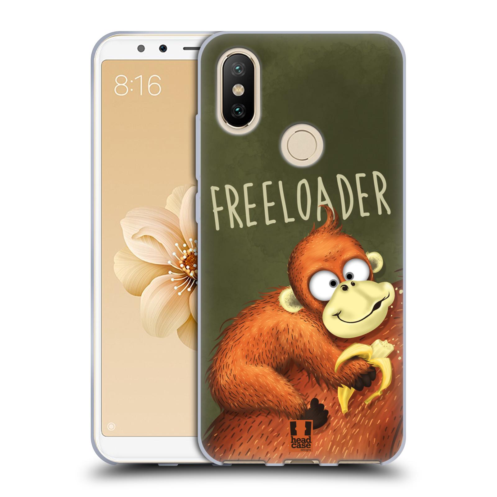 Silikonové pouzdro na mobil Xiaomi Mi A2 - Head Case - Opičák Freeloader