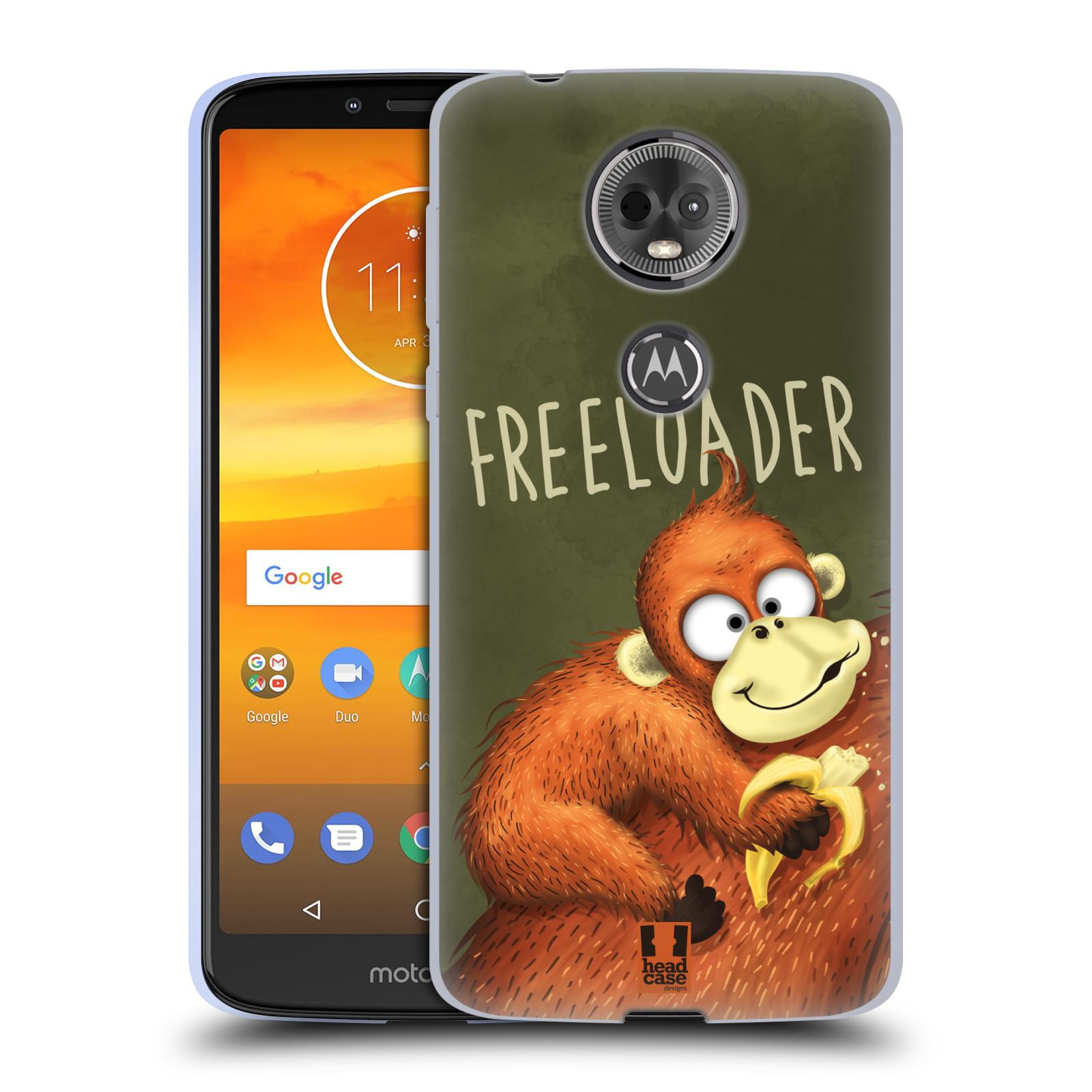 Silikonové pouzdro na mobil Motorola Moto E5 Plus - Head Case - Opičák Freeloader