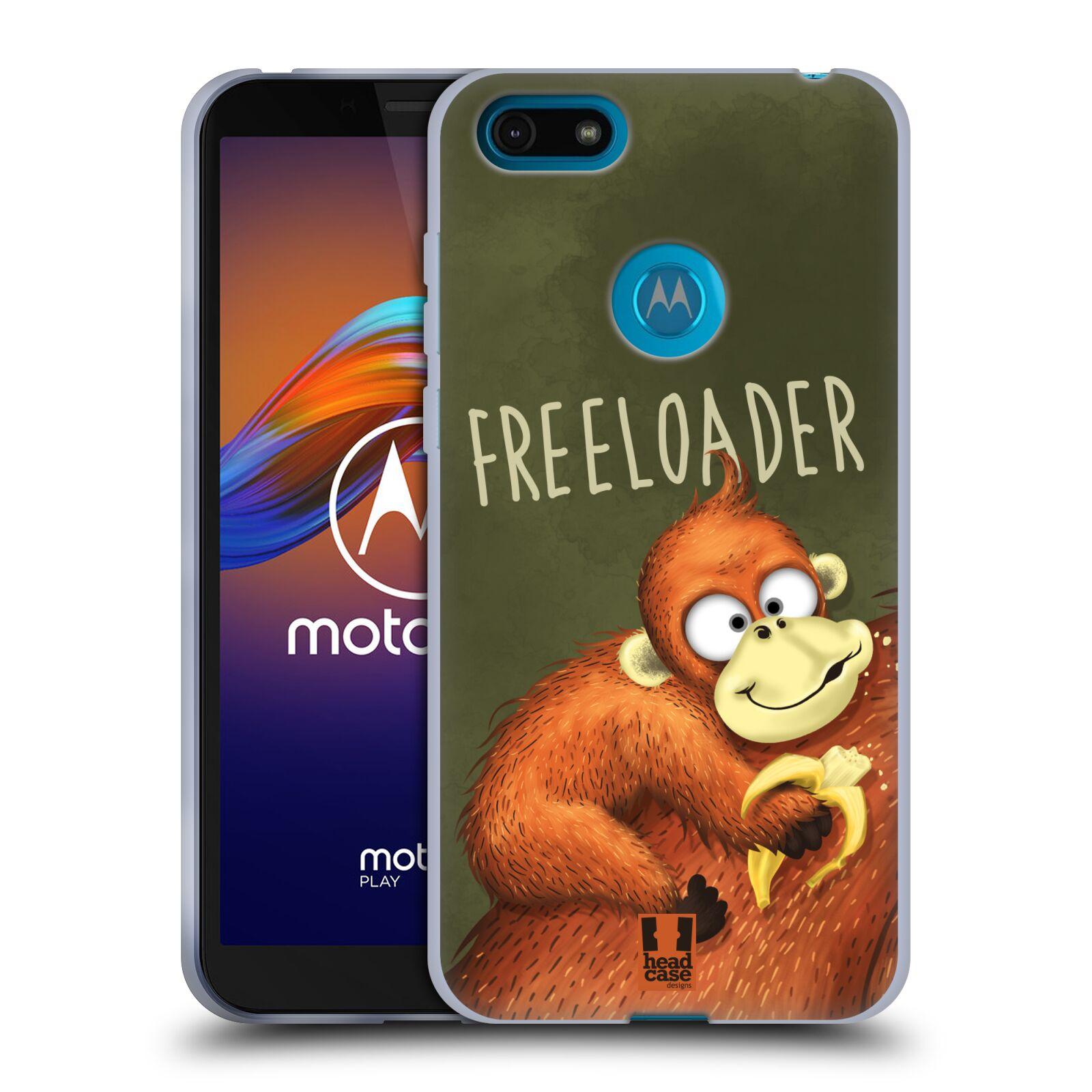 Silikonové pouzdro na mobil Motorola Moto E6 Play - Head Case - Opičák Freeloader