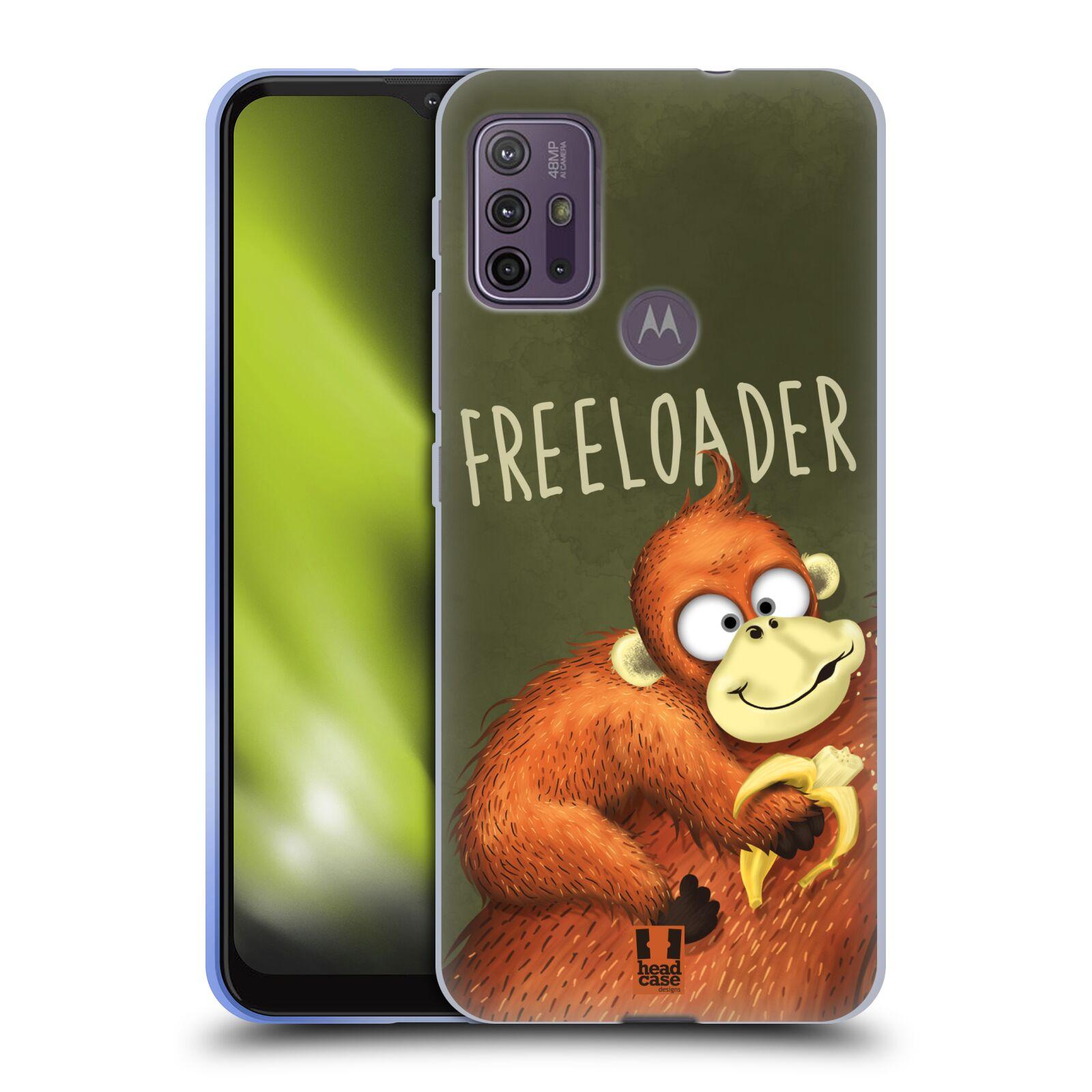 Silikonové pouzdro na mobil Motorola Moto G10 / G30 - Head Case - Opičák Freeloader