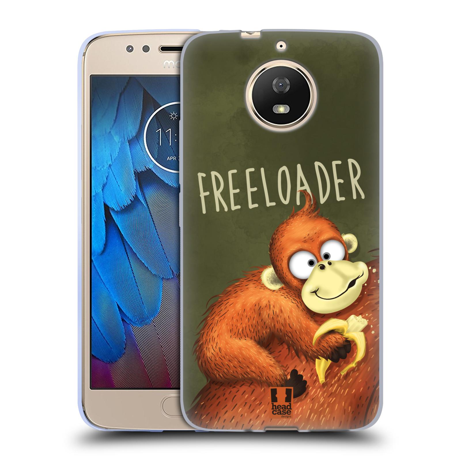 Silikonové pouzdro na mobil Lenovo Moto G5s - Head Case - Opičák Freeloader