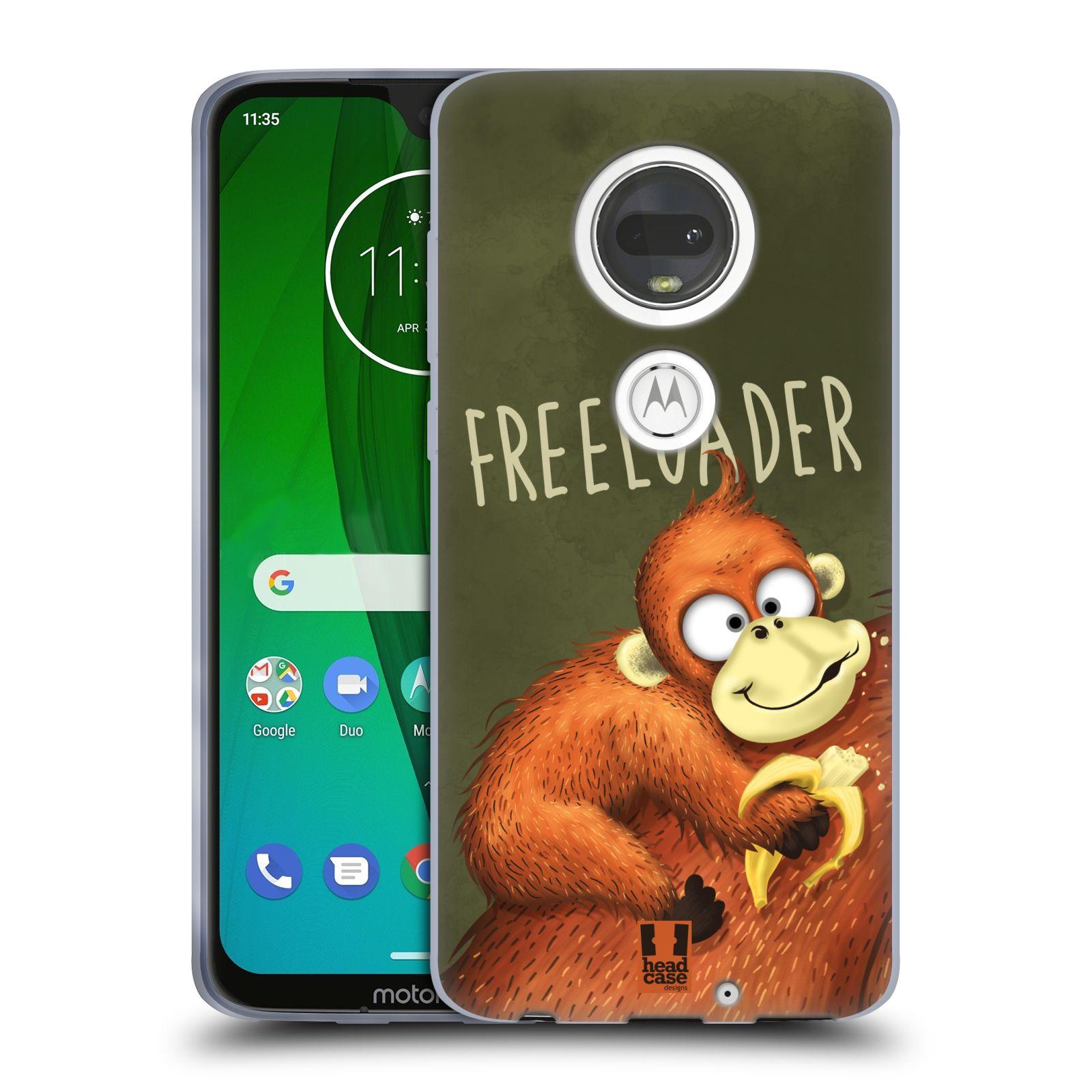 Silikonové pouzdro na mobil Motorola Moto G7 - Head Case - Opičák Freeloader
