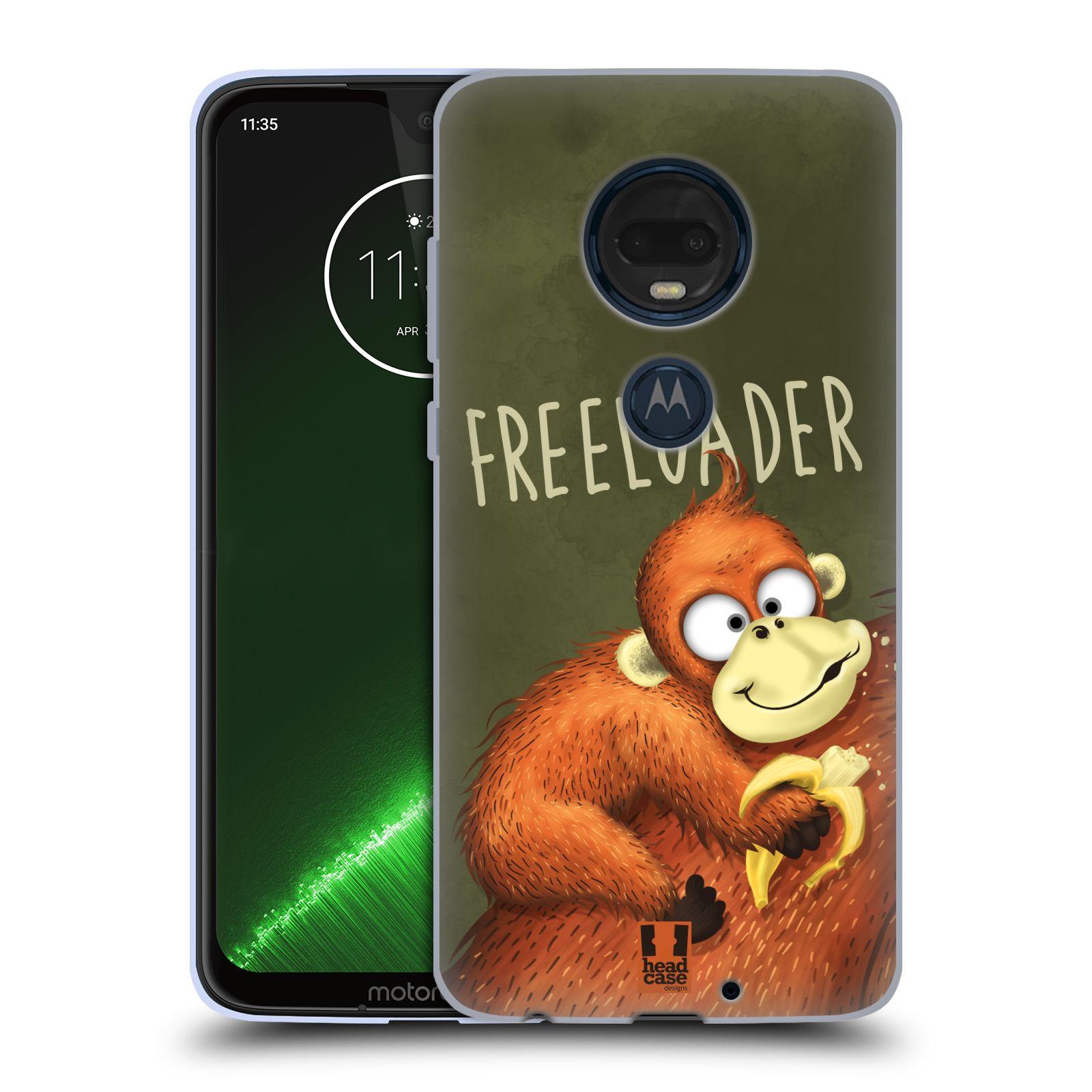 Silikonové pouzdro na mobil Motorola Moto G7 Plus - Head Case - Opičák Freeloader